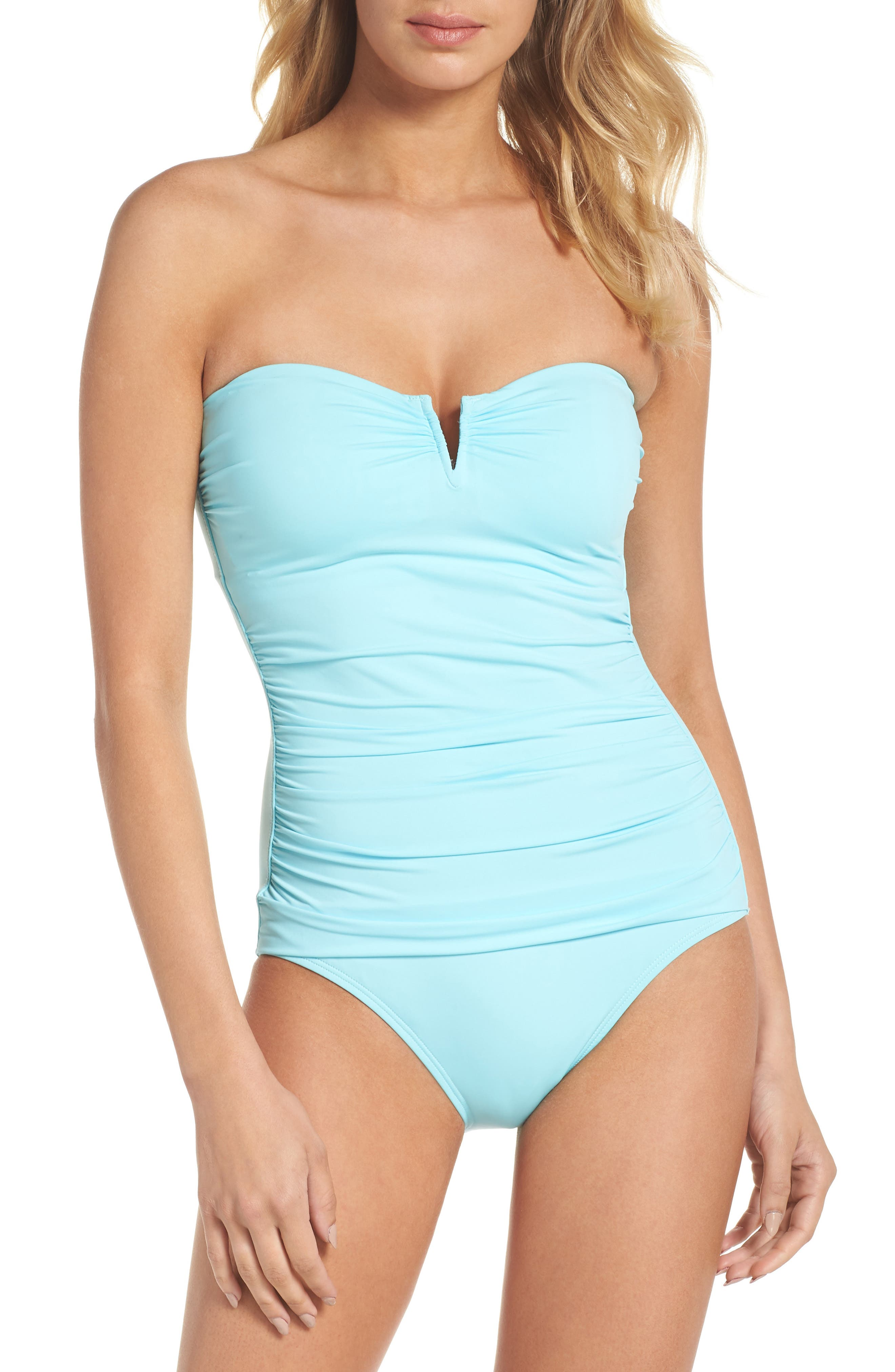 'Pearl' Convertible One-Piece Swimsuit,                             Main thumbnail 1, color,                             SWIMMING POOL