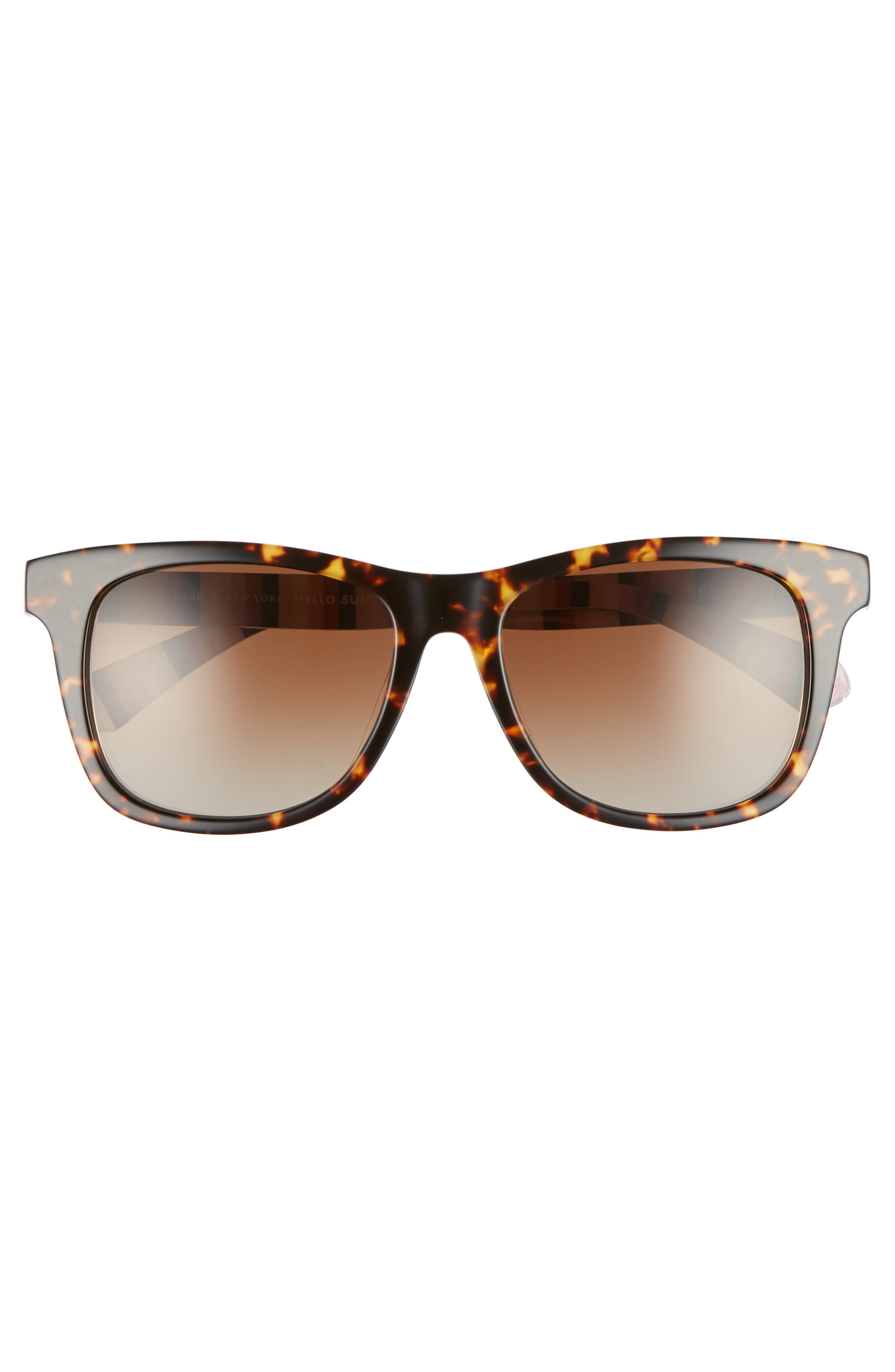 charmine 53mm gradient lens sunglasses,                             Alternate thumbnail 3, color,                             HAVANA PATTERN