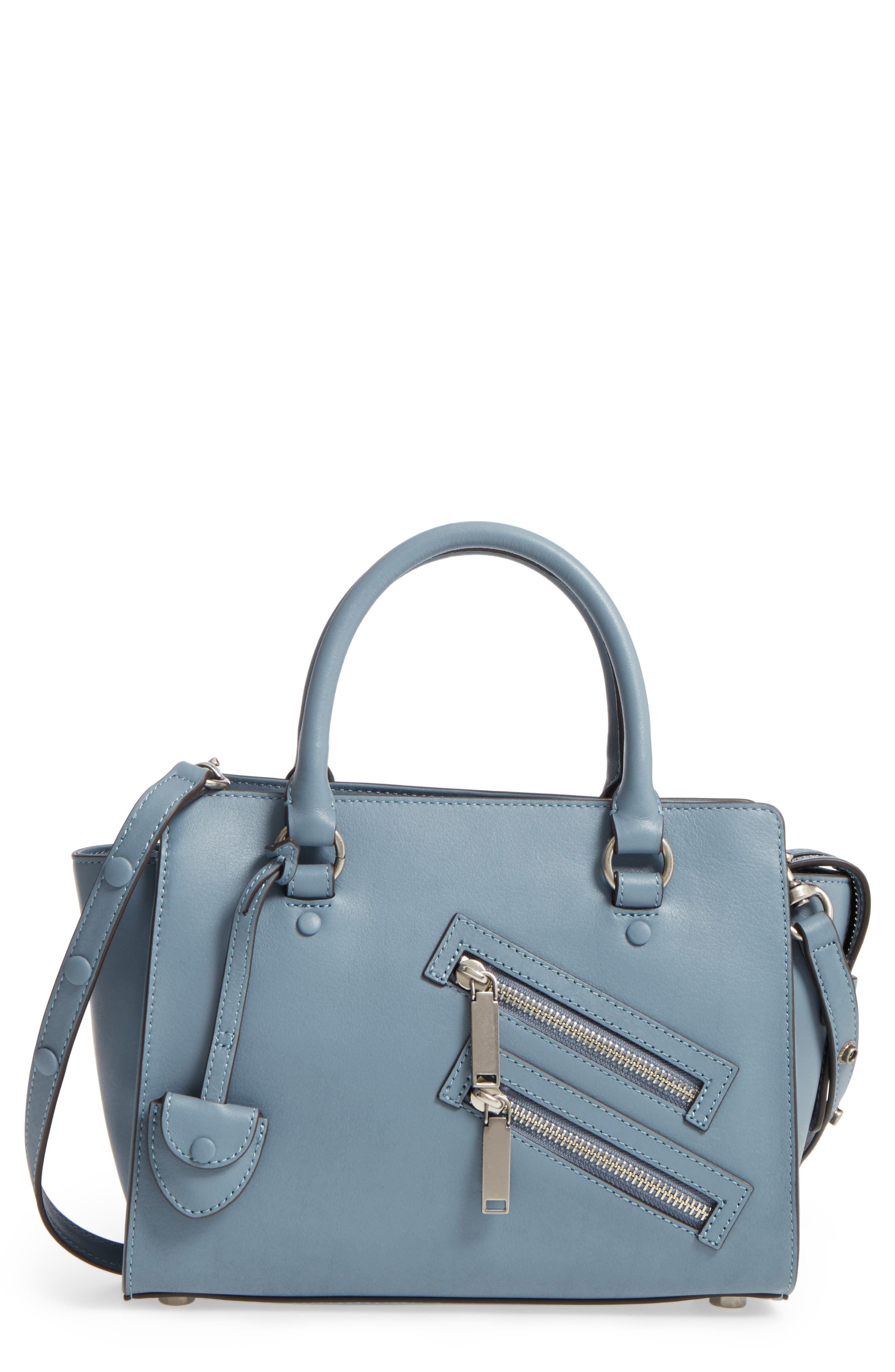 Small Jamie Leather Satchel,                             Main thumbnail 4, color,