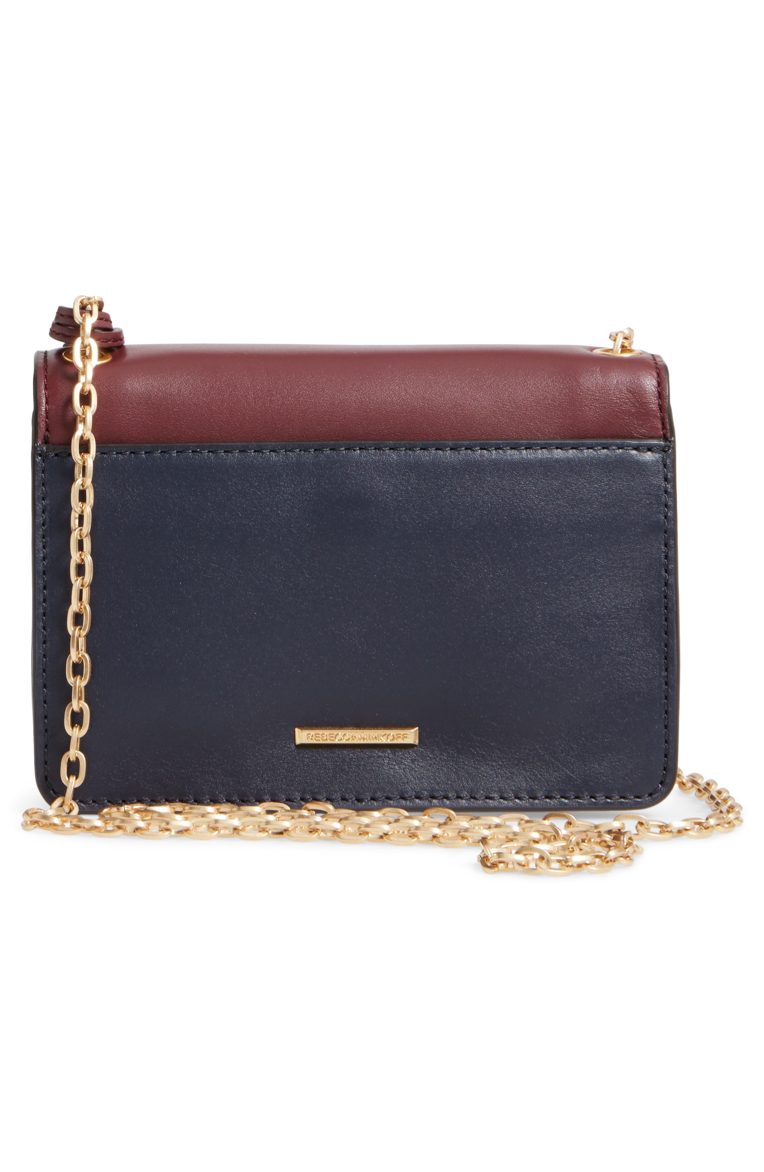 Mini Chain Leather Crossbody Bag,                             Alternate thumbnail 3, color,                             600