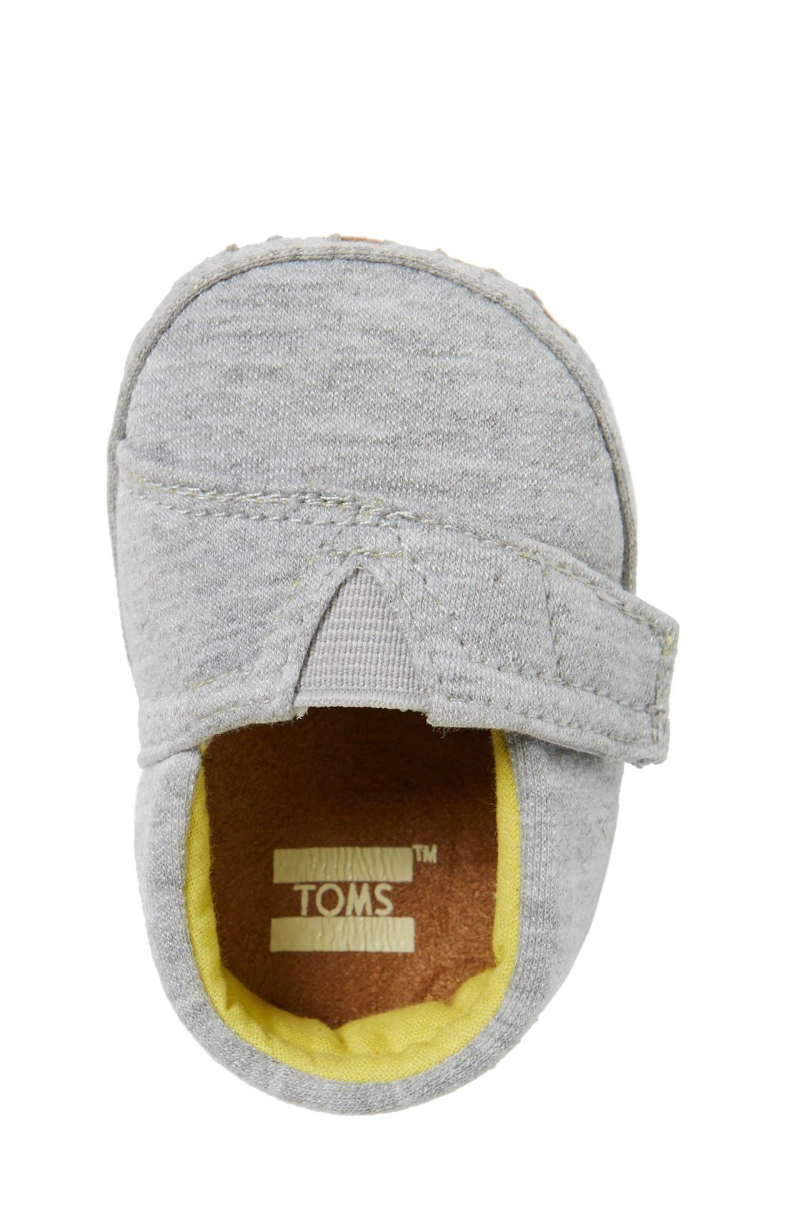 Alpargata Chambray Crib Shoe,                             Alternate thumbnail 4, color,                             GREY