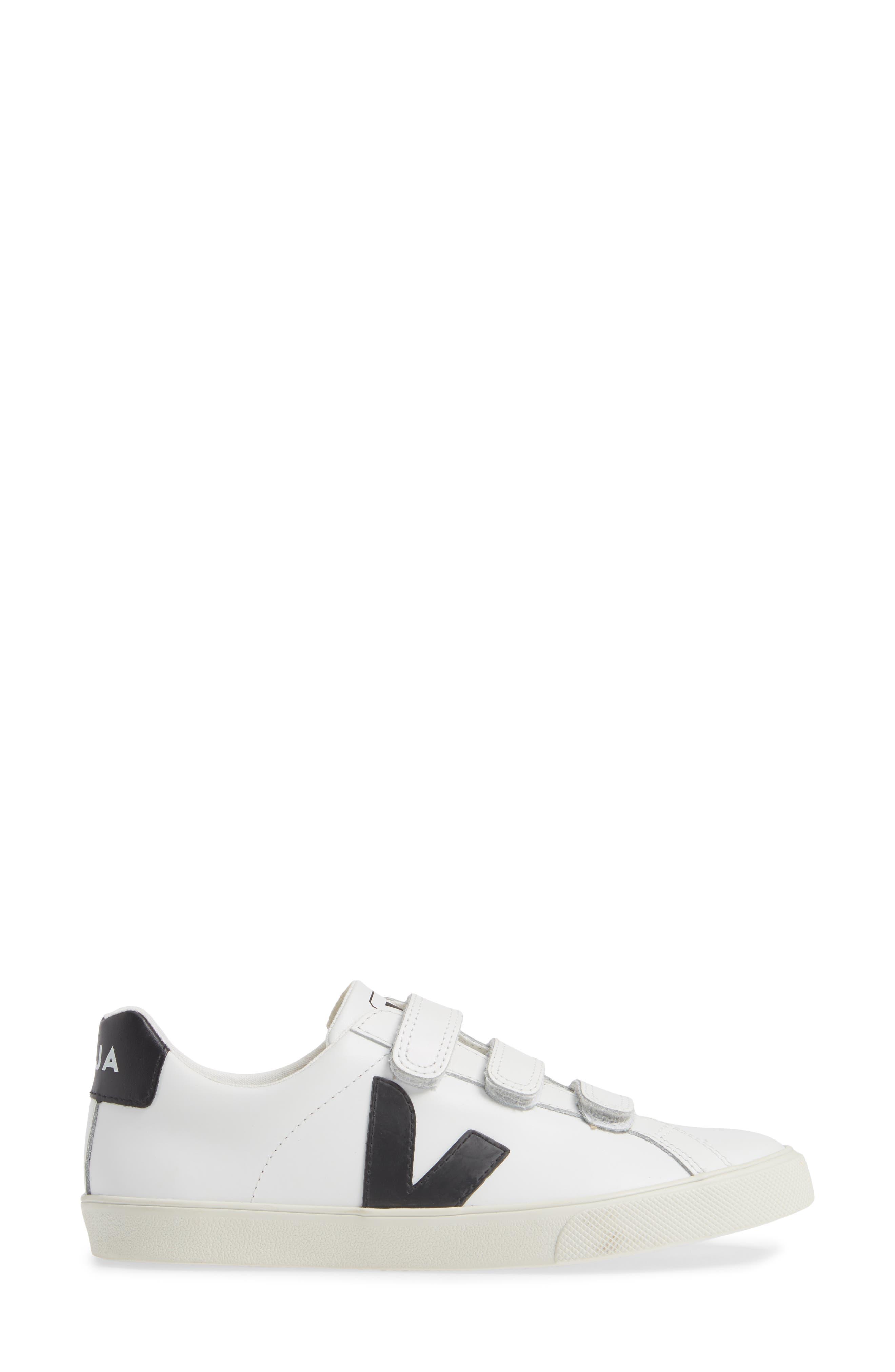 Espalar 3-Lock Sneaker,                             Alternate thumbnail 3, color,                             EXTRA WHITE BLACK