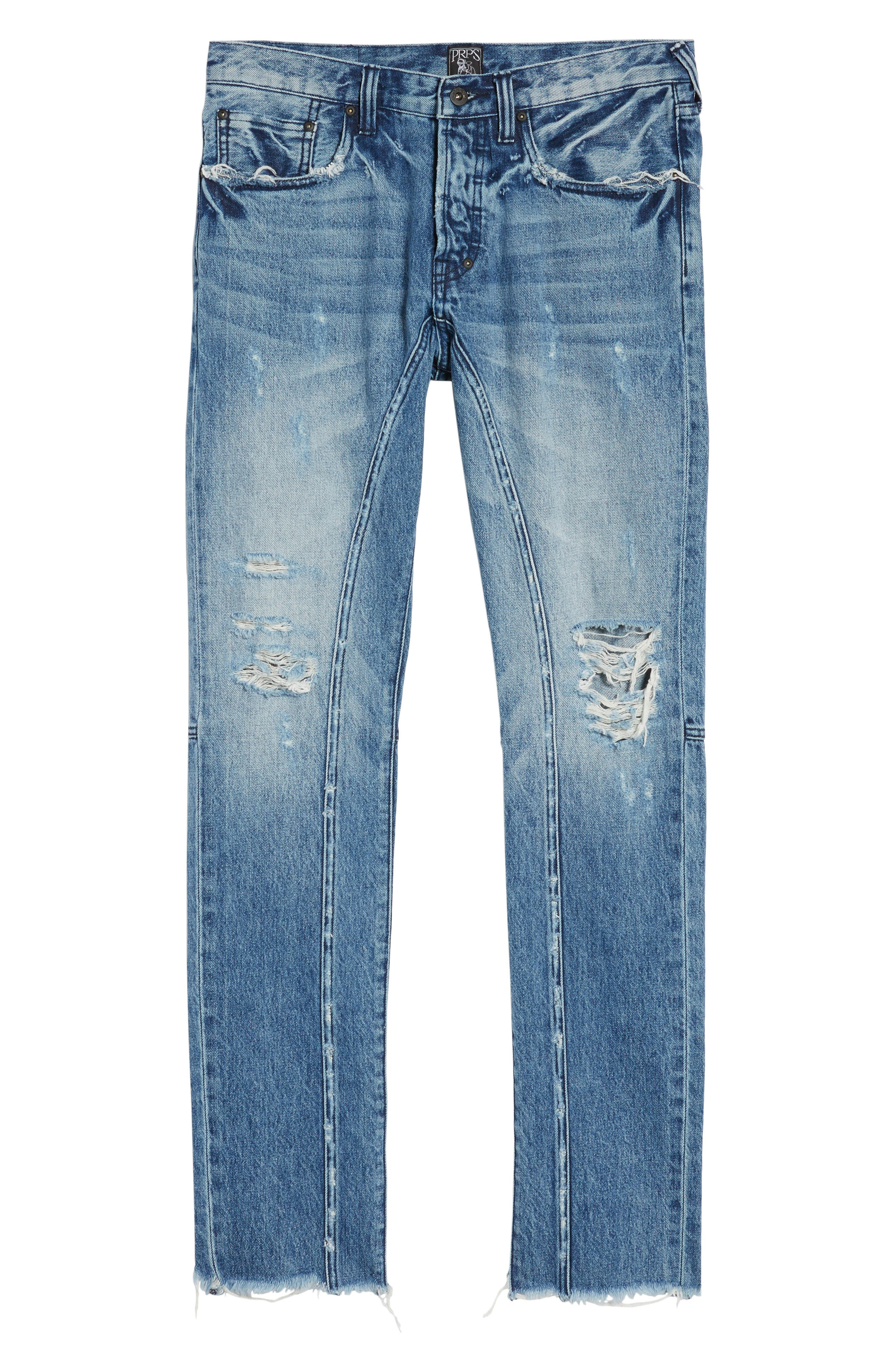 Le Sabre Tapered Fit Jeans,                             Alternate thumbnail 6, color,                             490
