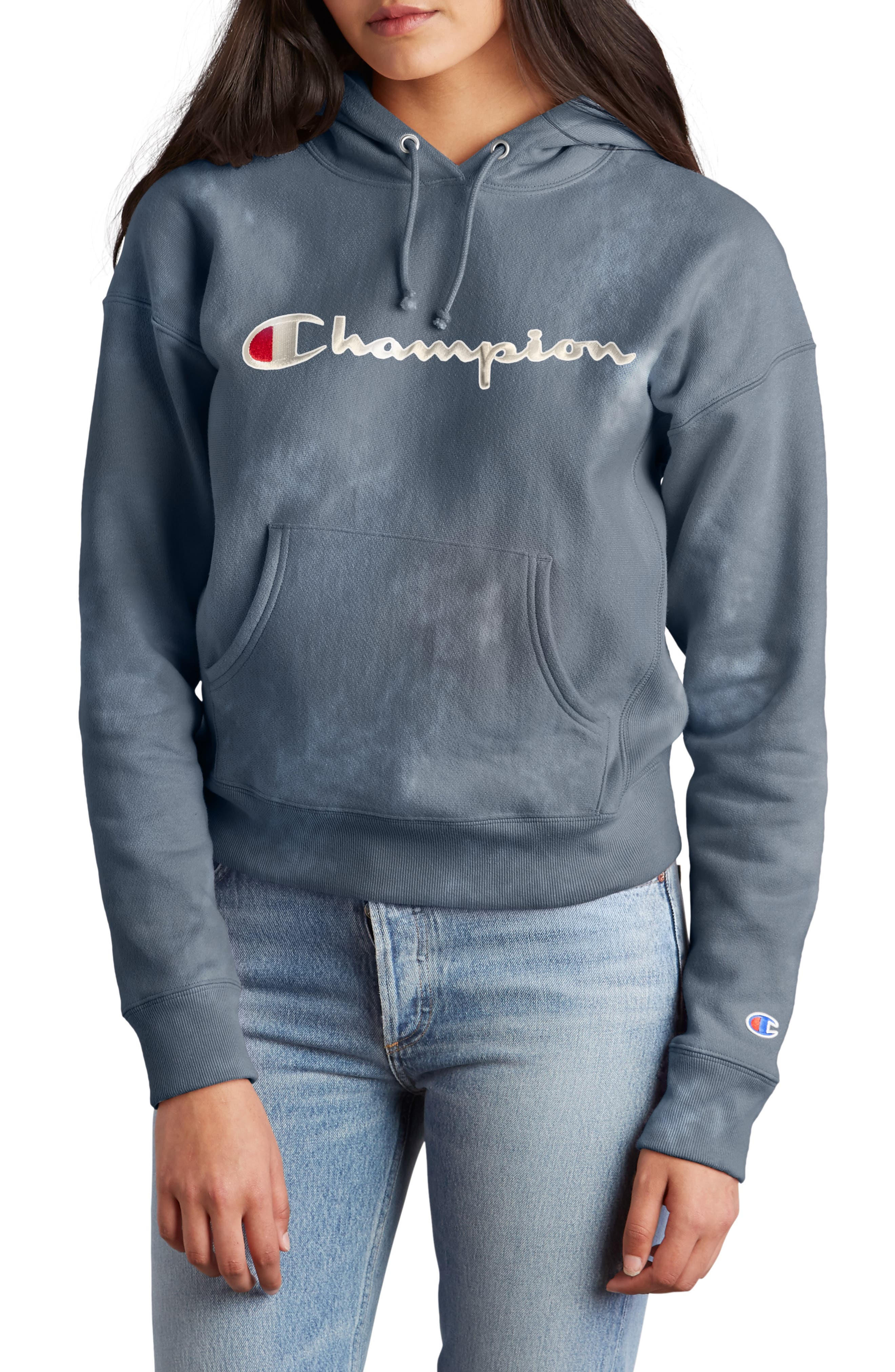 Garment Dyed Hoodie,                             Main thumbnail 1, color,                             DUSTED BLUE