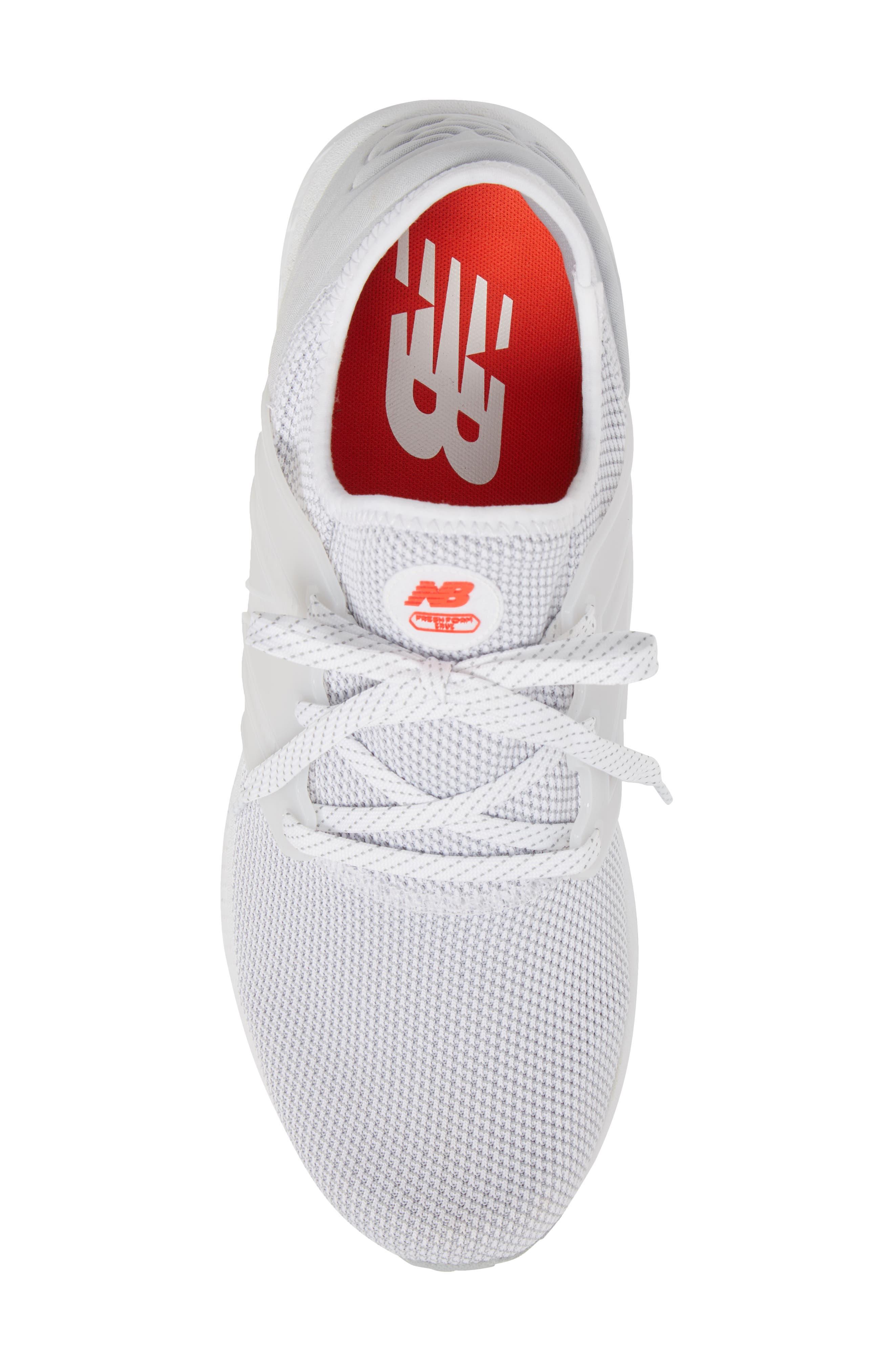 Fresh Foam Cruz v2 Sport Running Shoe,                             Alternate thumbnail 5, color,                             WHITE
