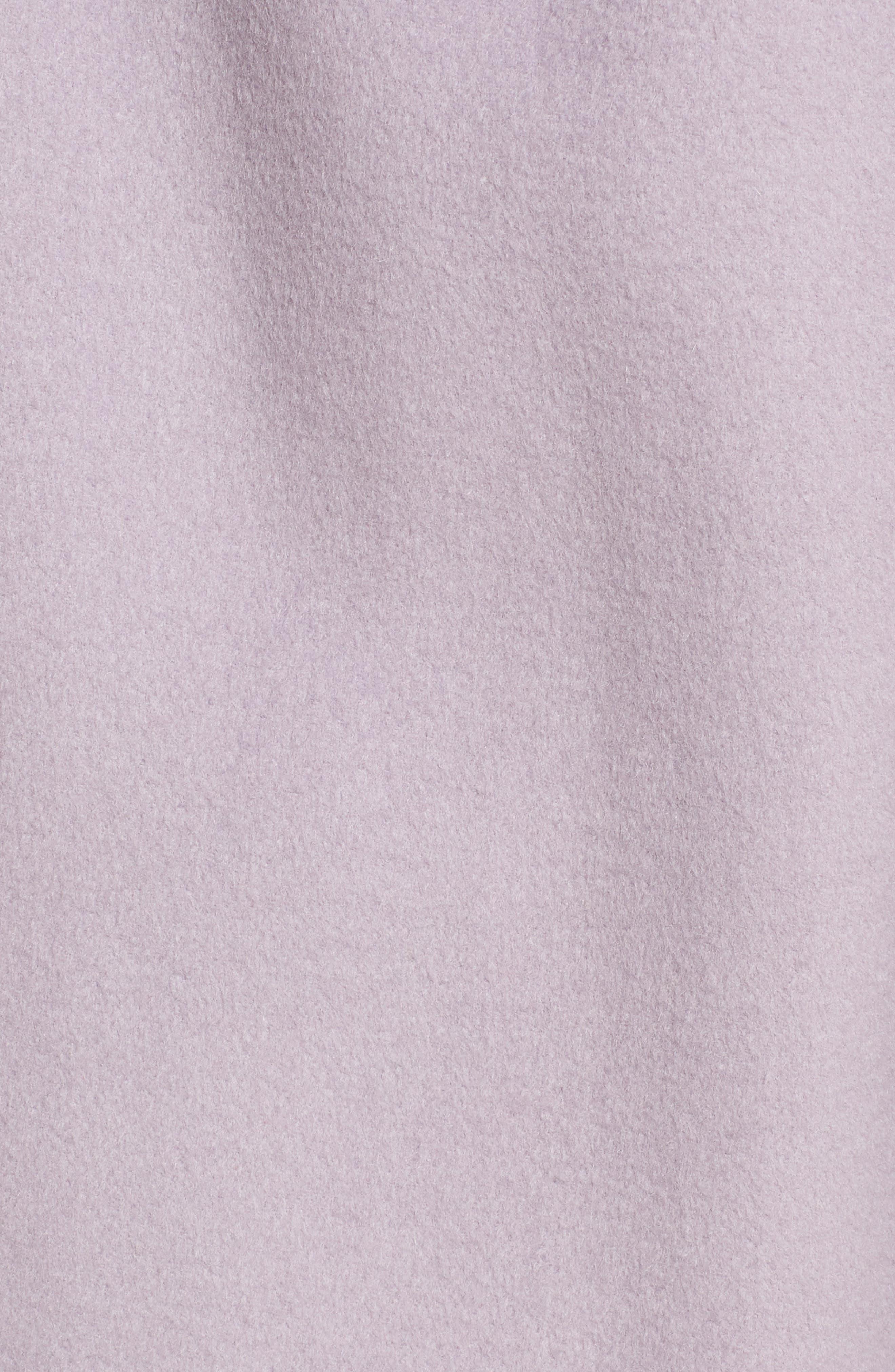 Double Face Wool Blend Wrap Front Coat,                             Alternate thumbnail 7, color,                             LAVENDER