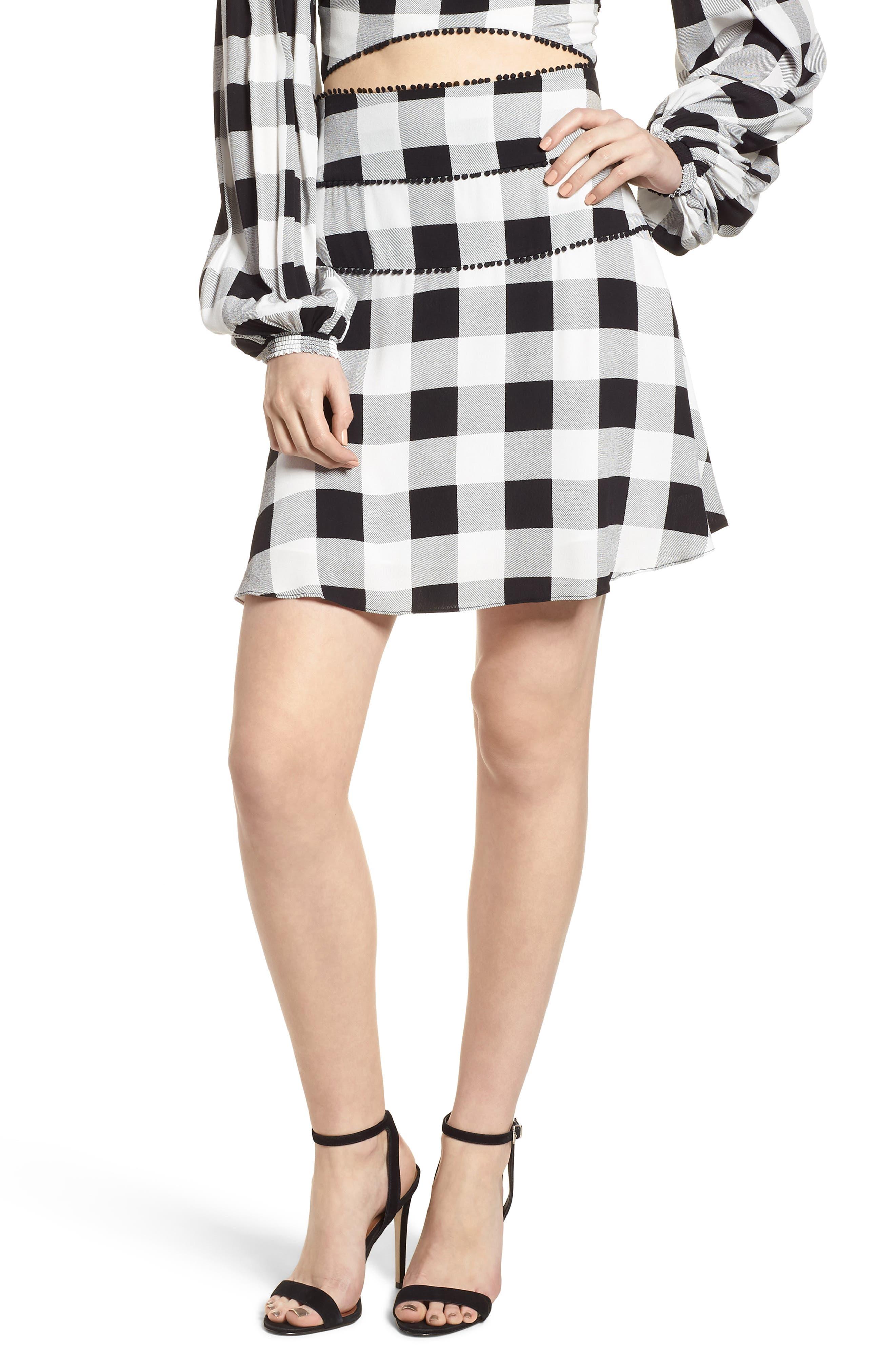 Bell High Waist Miniskirt,                             Main thumbnail 1, color,                             002