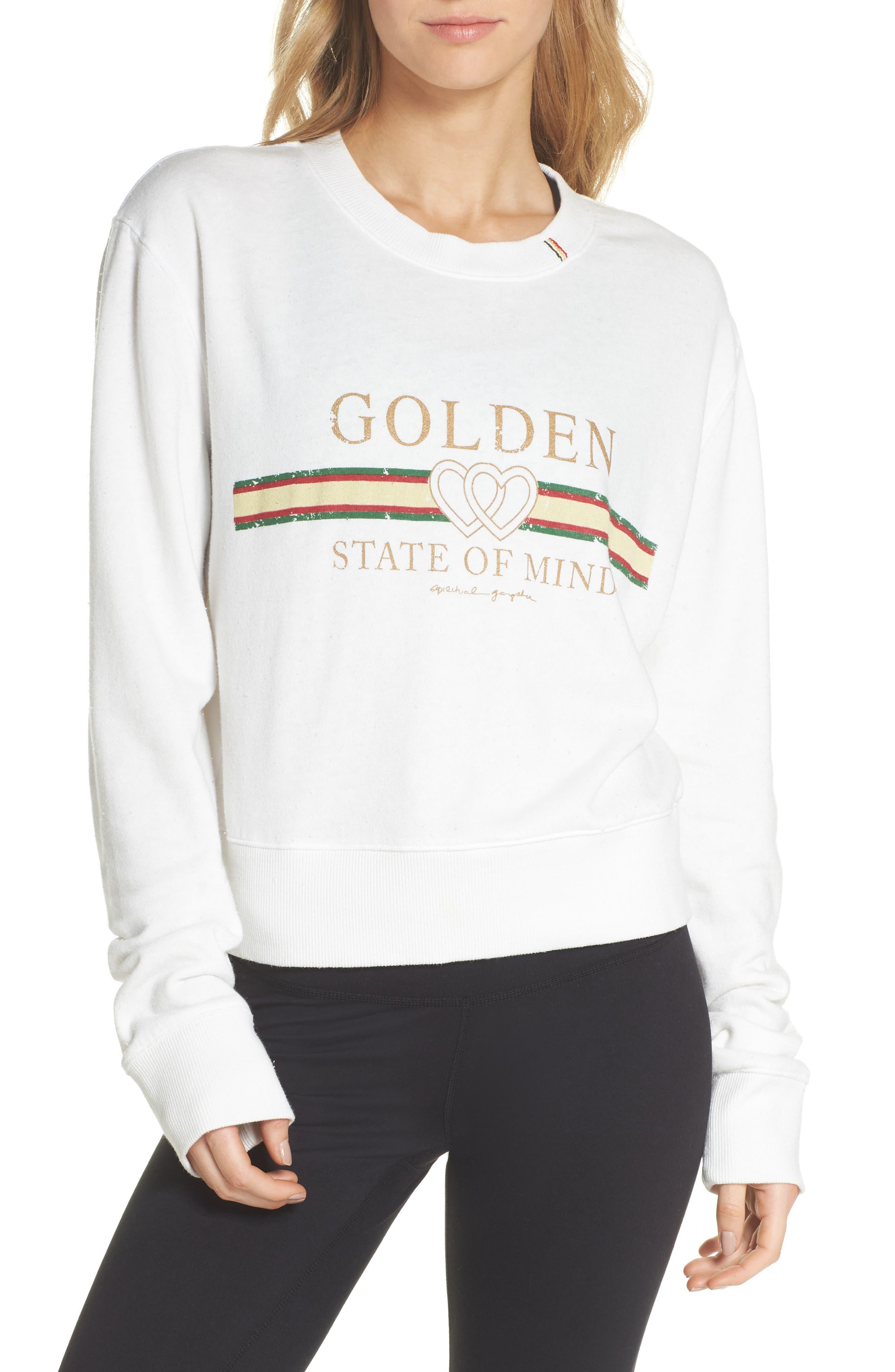 Golden State Crop Sweatshirt,                             Main thumbnail 1, color,                             108
