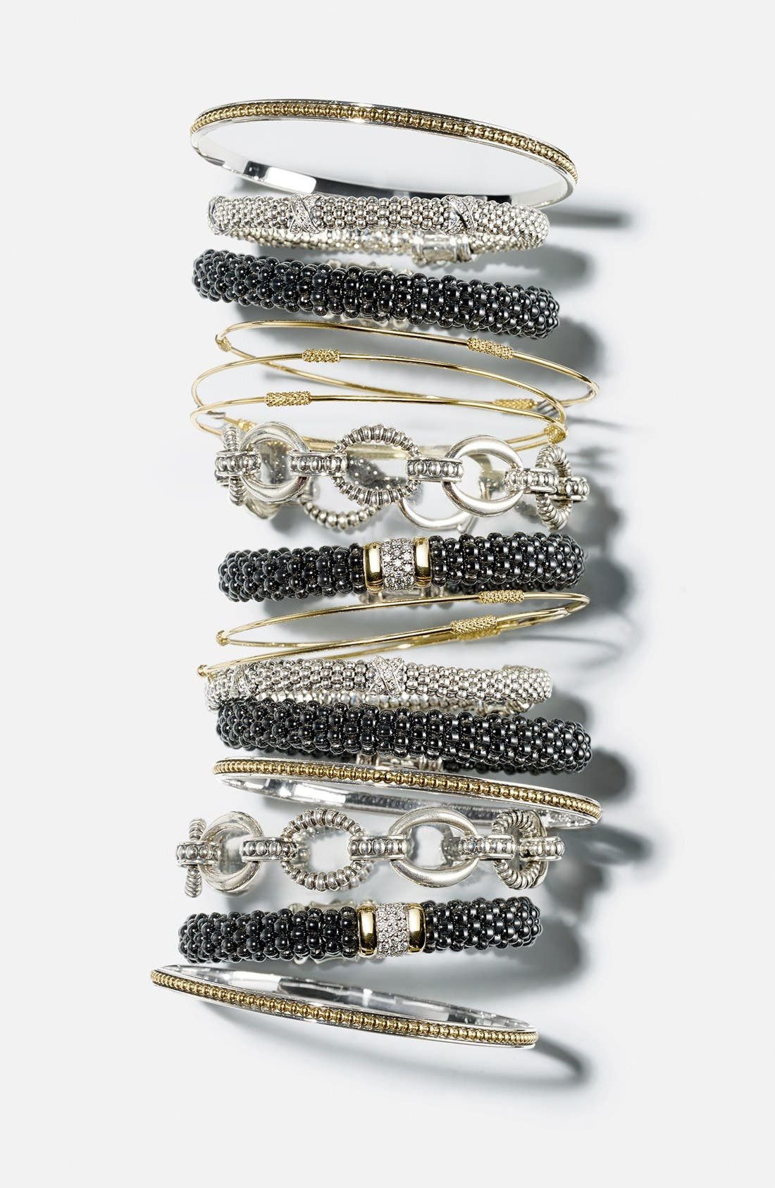 'Black Caviar' Diamond Rope Bracelet,                             Alternate thumbnail 5, color,                             BLACK CAVIAR/ GOLD