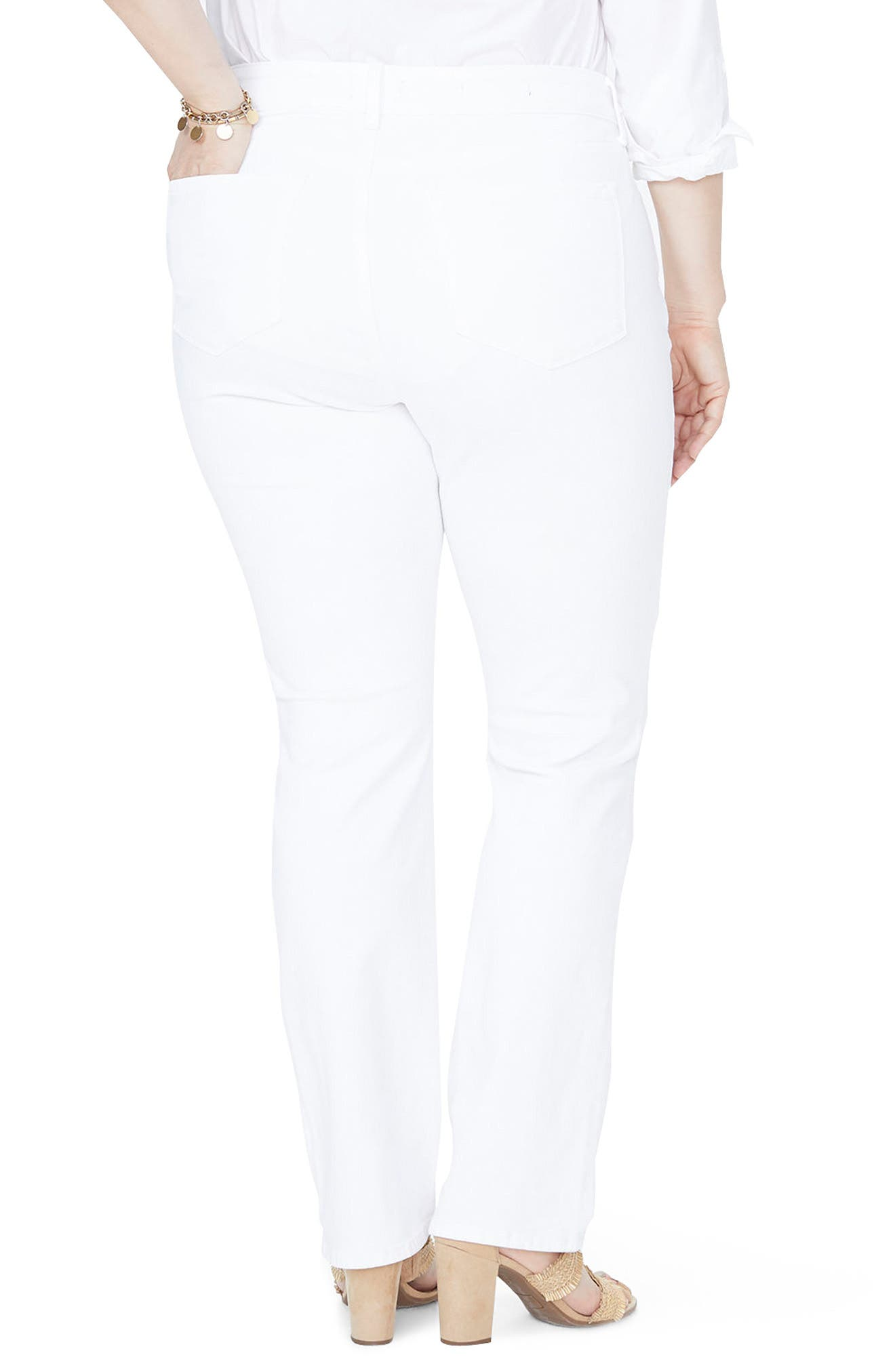 Marilyn High Rise Stretch Straight Leg Jeans,                             Alternate thumbnail 2, color,                             OPTIC WHITE