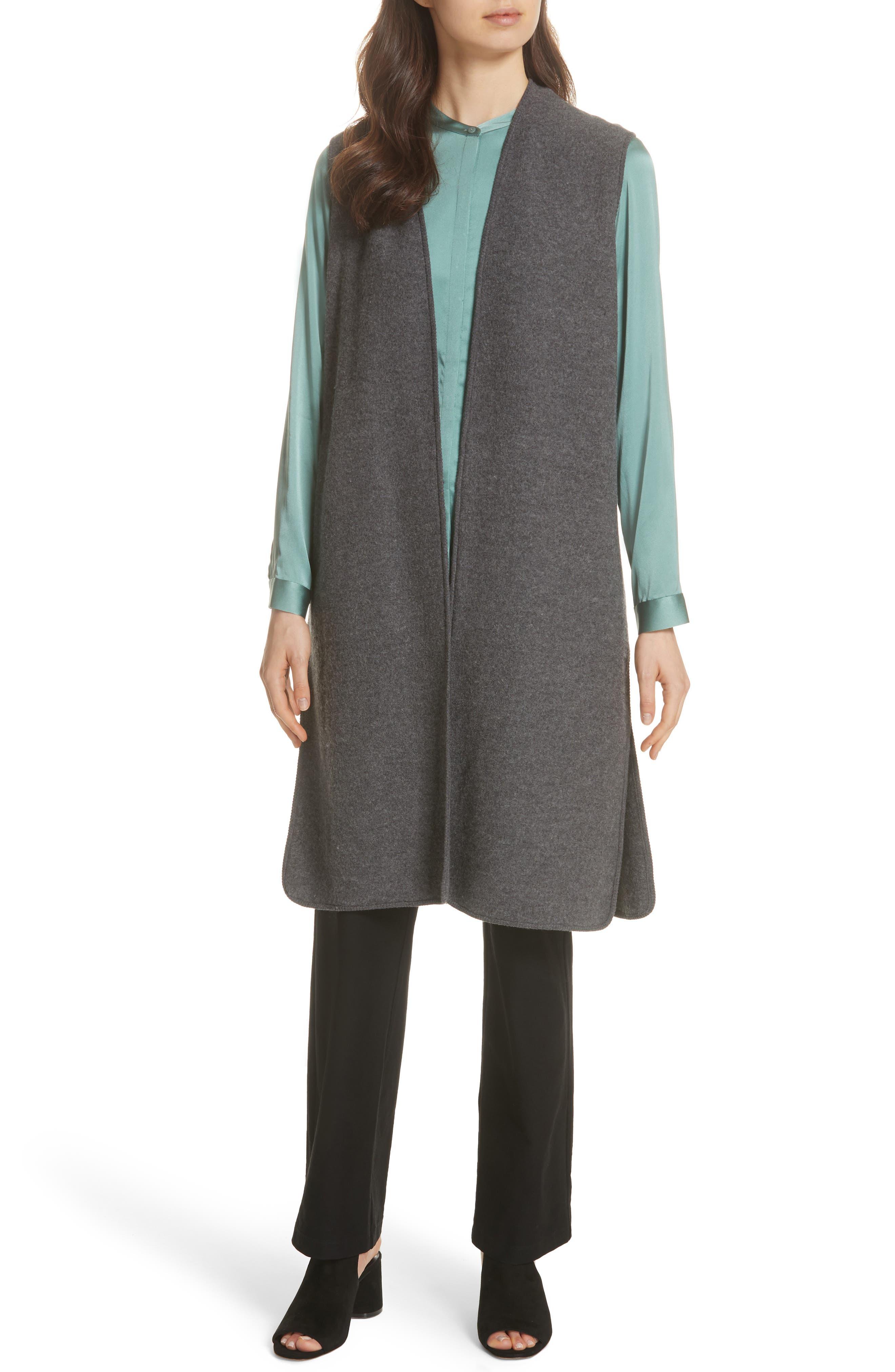 Long Merino Wool Vest,                             Alternate thumbnail 7, color,                             030