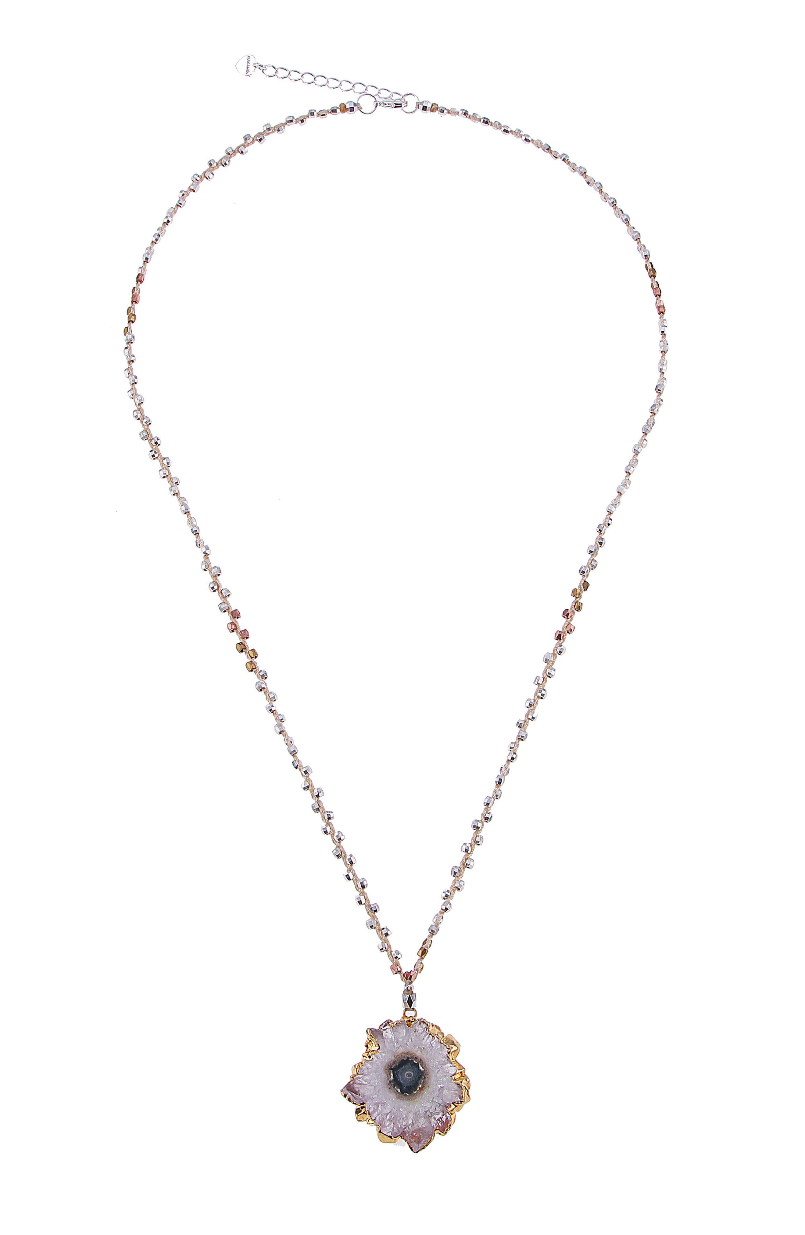 NAKAMOL DESIGN Cote Amethyst Pendant Necklace, Main, color, 100
