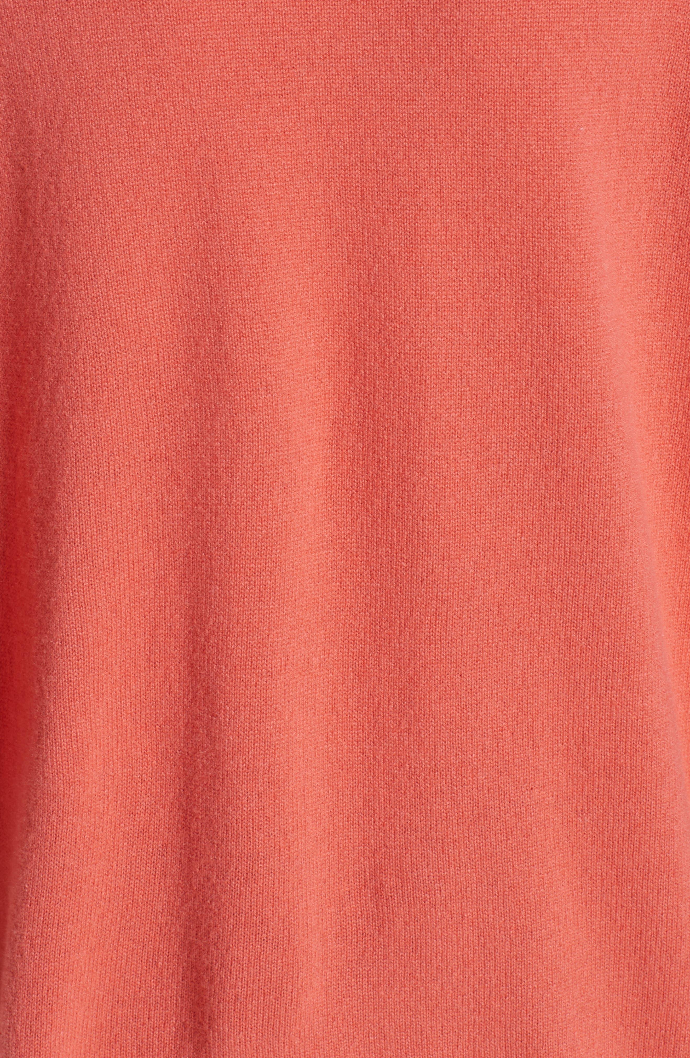 Stripe V-Neck Cashmere Sweater,                             Alternate thumbnail 5, color,                             ROSA NATURALE