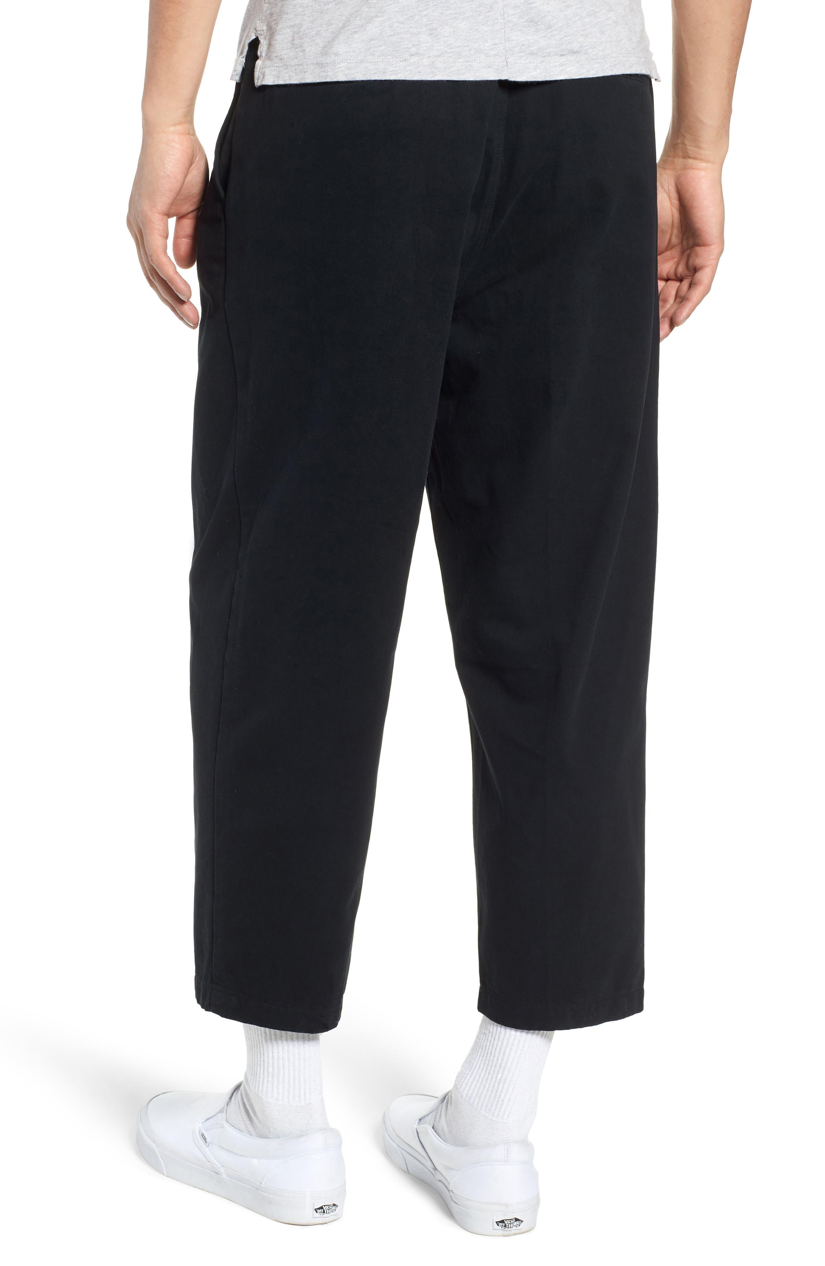Fubar Pleated Relaxed Fit Pants,                             Alternate thumbnail 2, color,                             BLACK