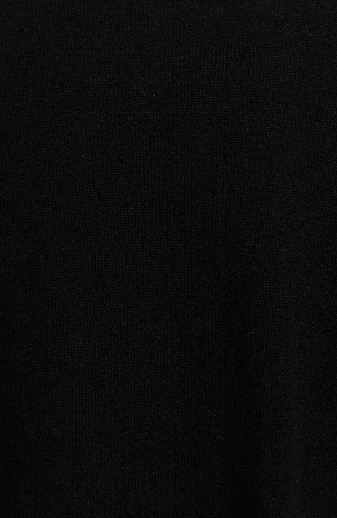 High/Low Cashmere Sweater,                             Alternate thumbnail 3, color,                             001