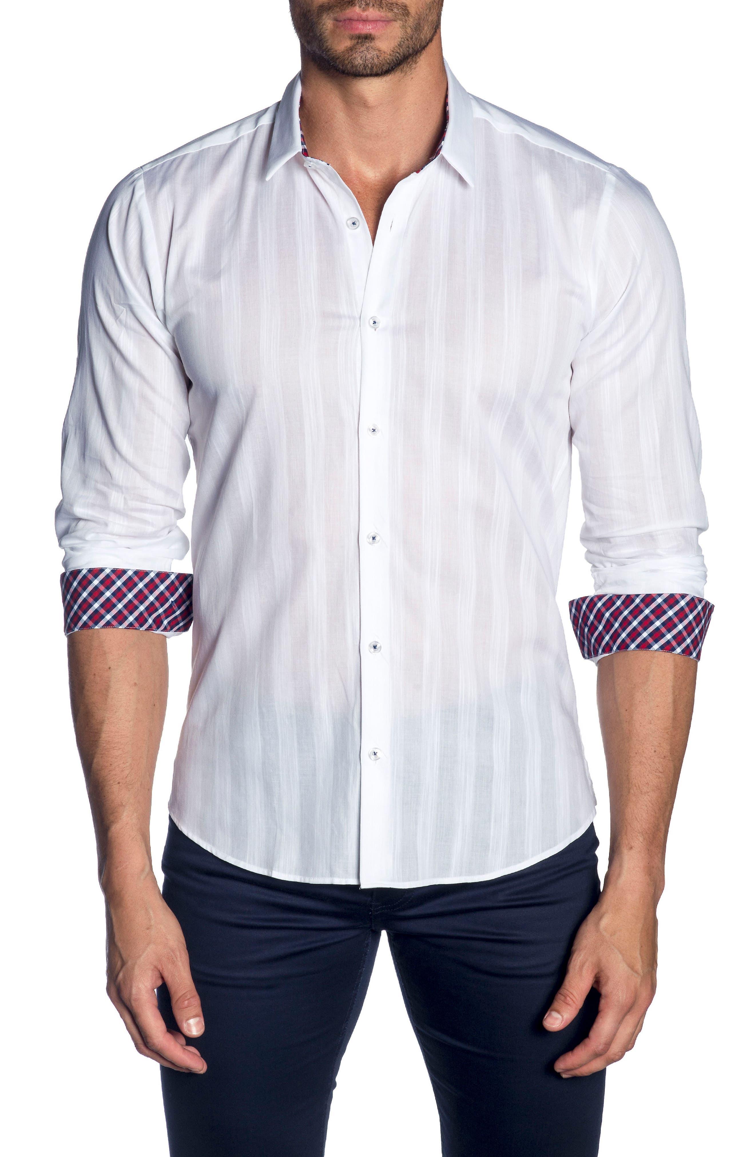 Trim Fit Sport Shirt,                         Main,                         color, 100