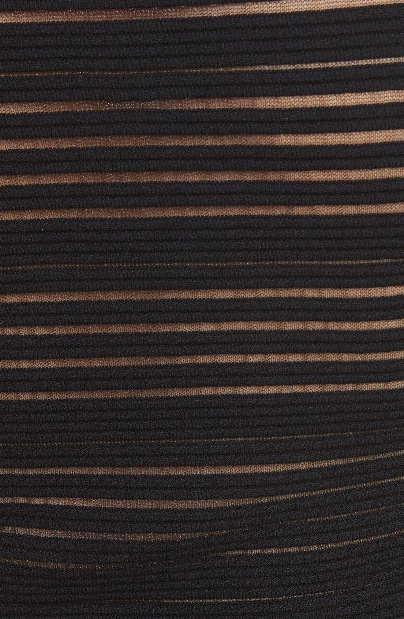 Stripe Knit A-Line Dress,                             Alternate thumbnail 5, color,                             001