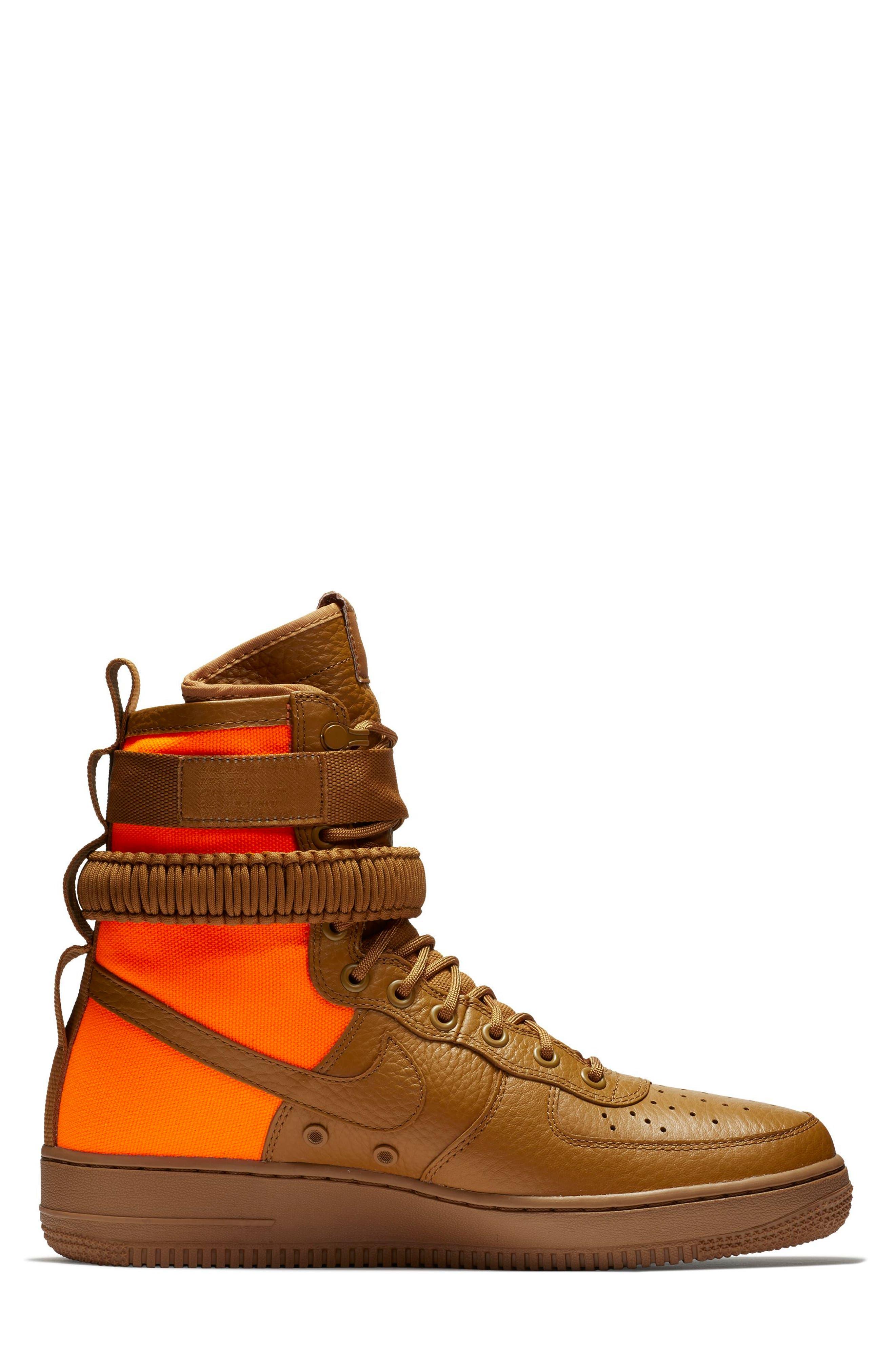 SF Air Force 1 QS High Top Sneaker,                             Alternate thumbnail 3, color,                             200
