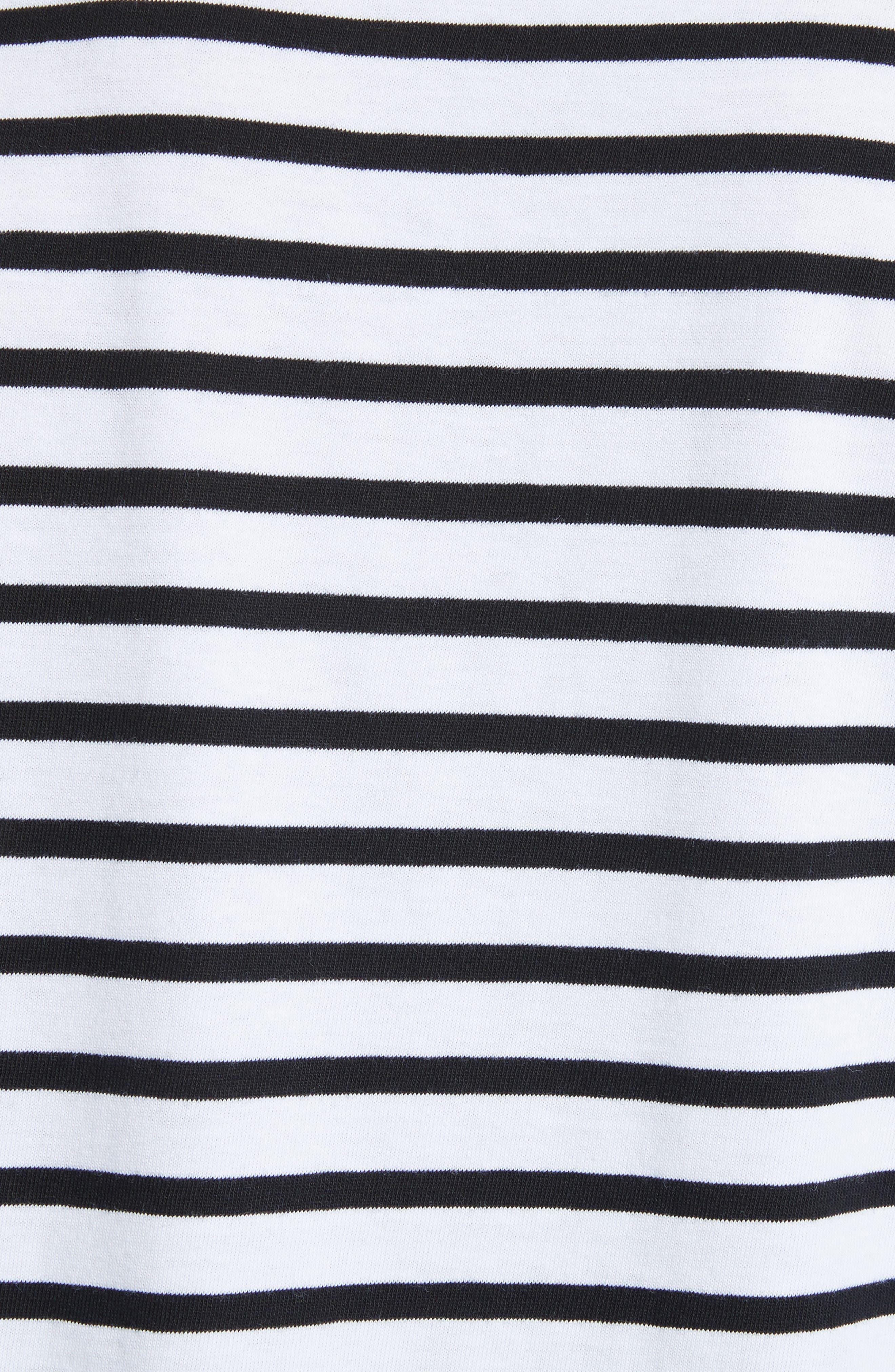 Stripe Long Sleeve T-Shirt,                             Alternate thumbnail 5, color,