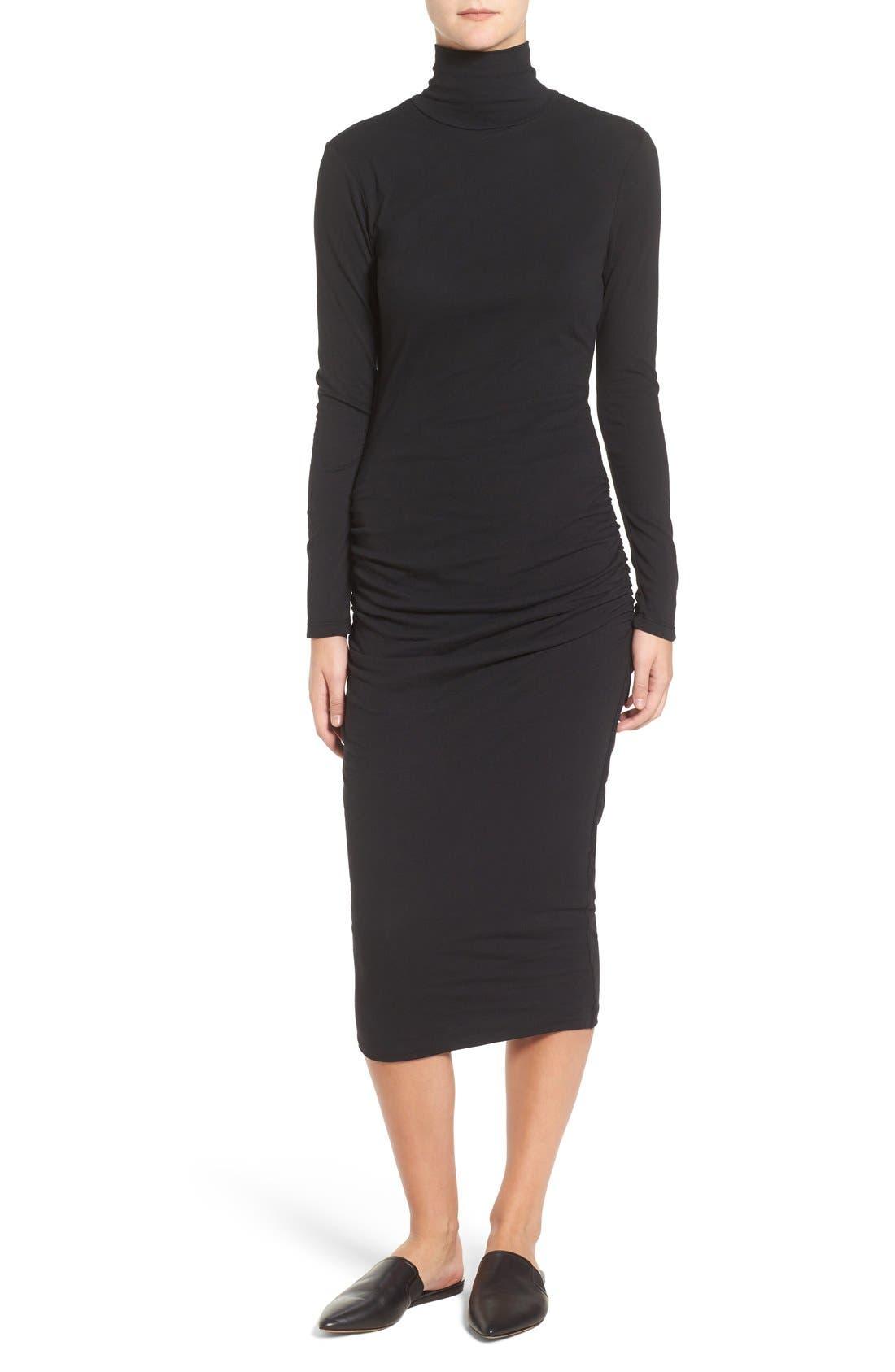 Turtleneck Midi Dress,                             Main thumbnail 1, color,