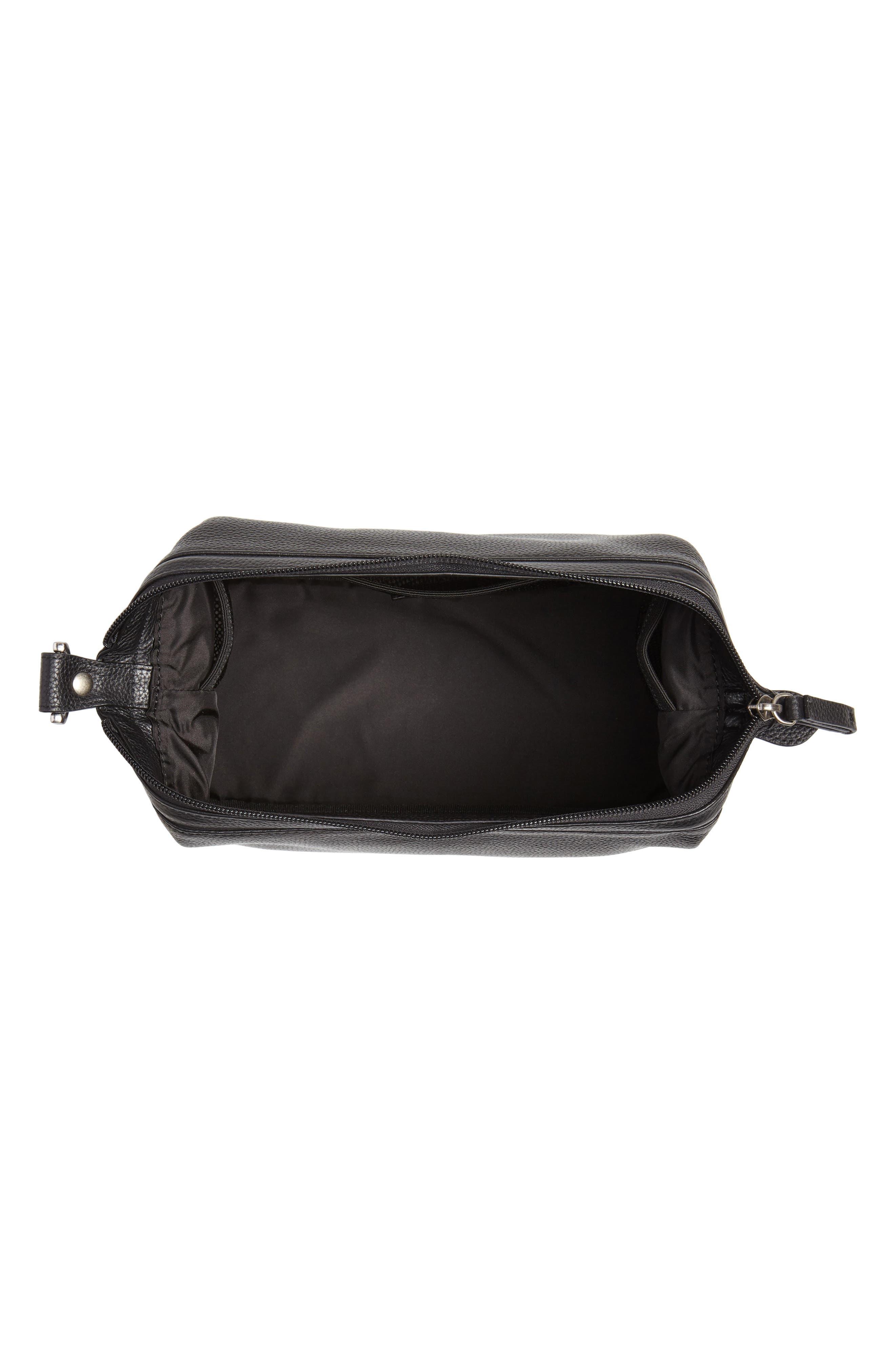 Midland Leather Dopp Kit,                             Alternate thumbnail 3, color,                             BLACK
