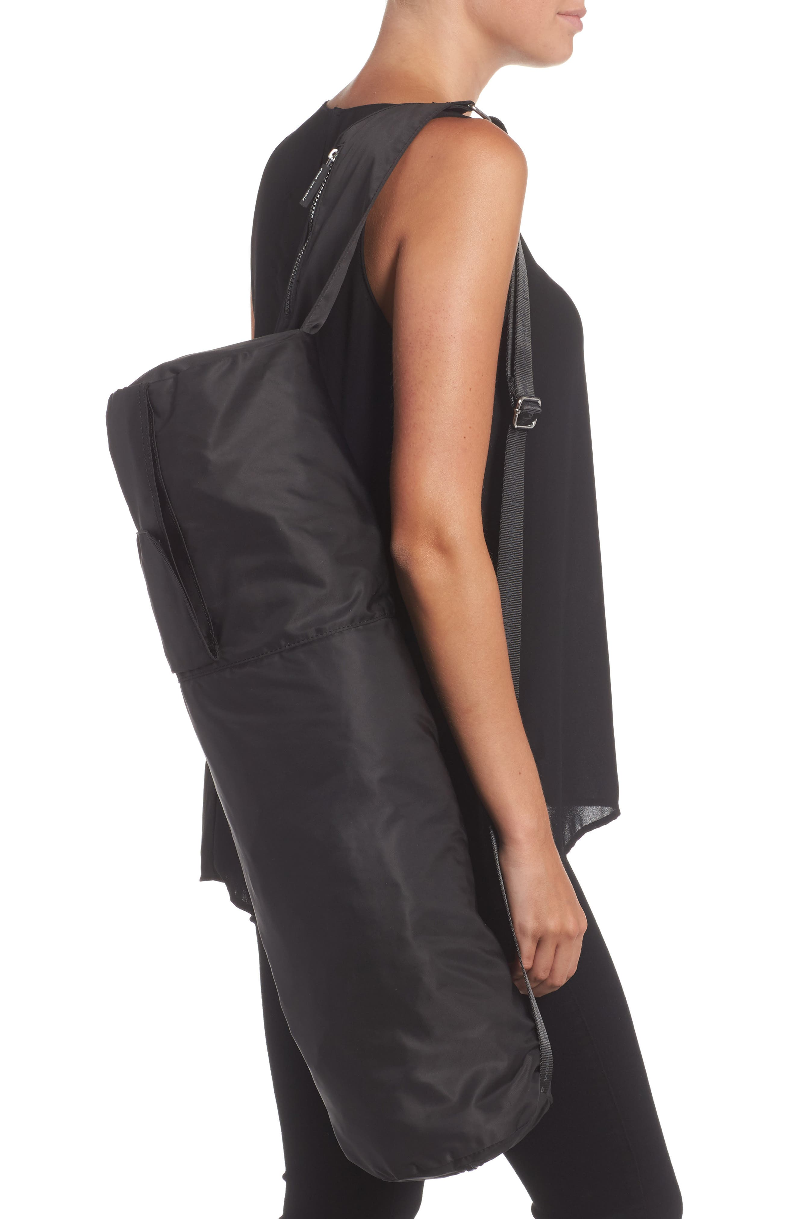 Nylon Yoga Bag,                             Alternate thumbnail 2, color,                             001