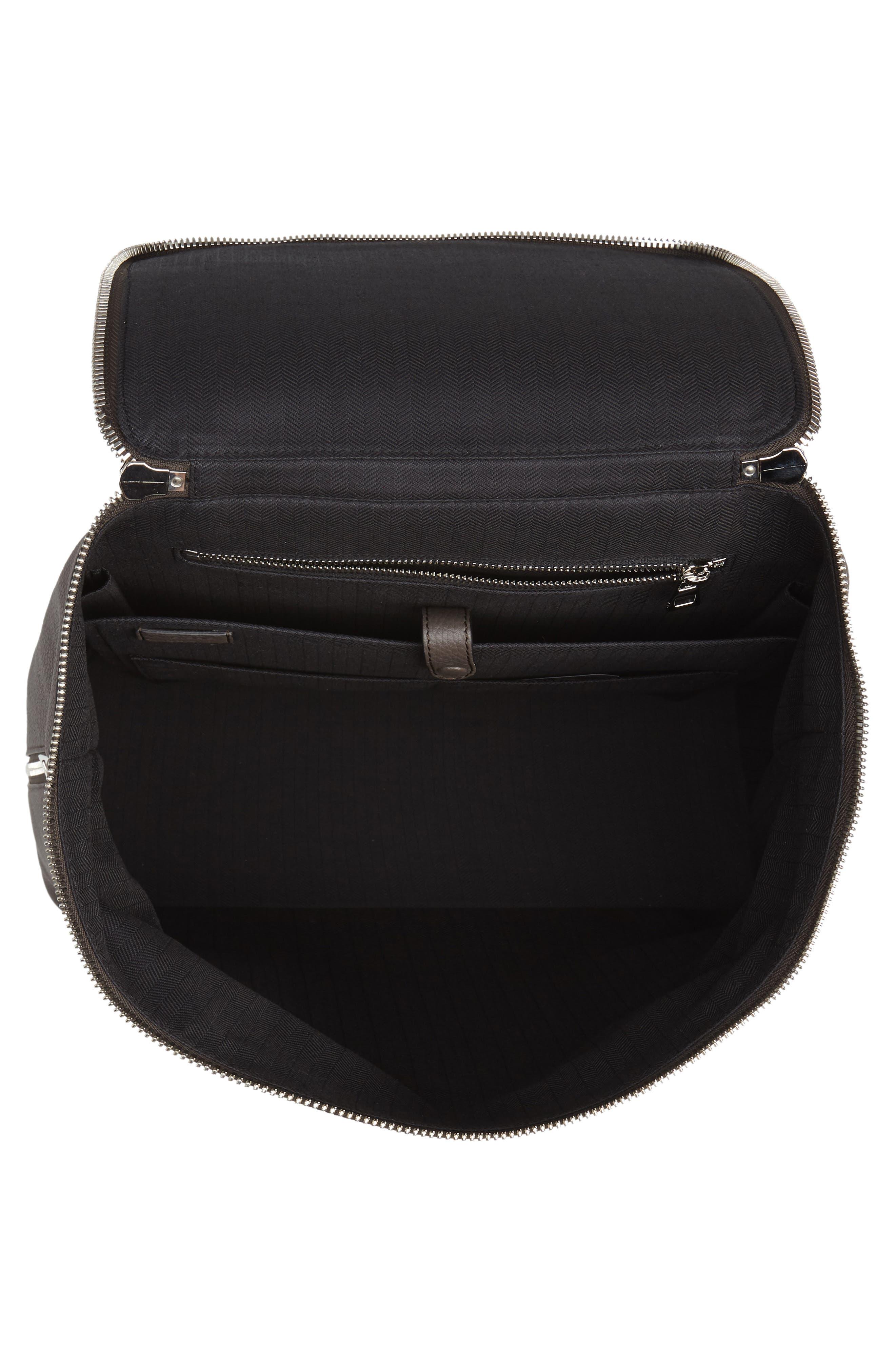 Goya Plaid Calfskin Leather Backpack,                             Alternate thumbnail 4, color,                             022