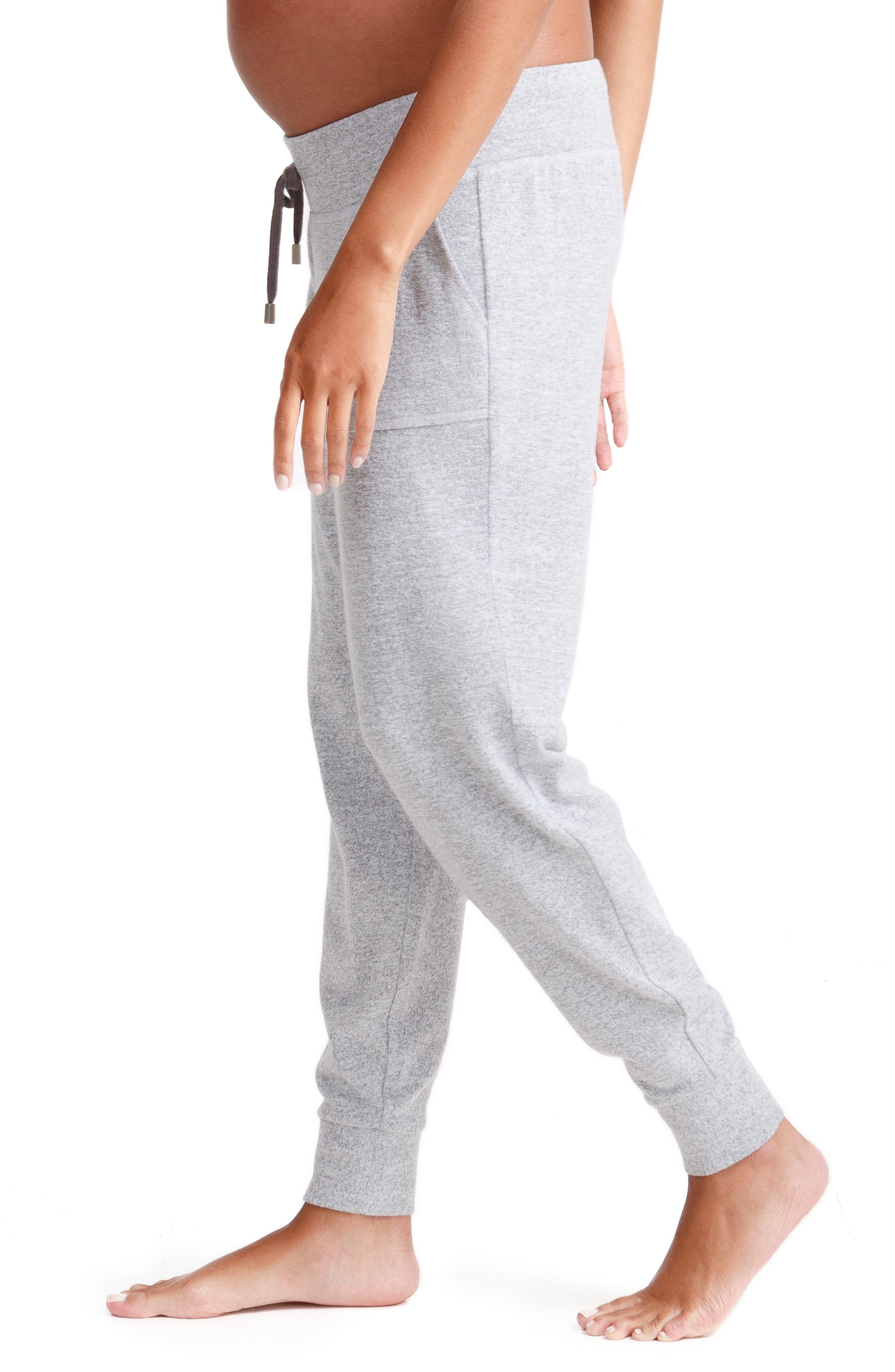 INGRID & ISABEL<SUP>®</SUP>,                             Knit Active Maternity Jogger Pants,                             Alternate thumbnail 3, color,                             LIGHT HEATHER GREY