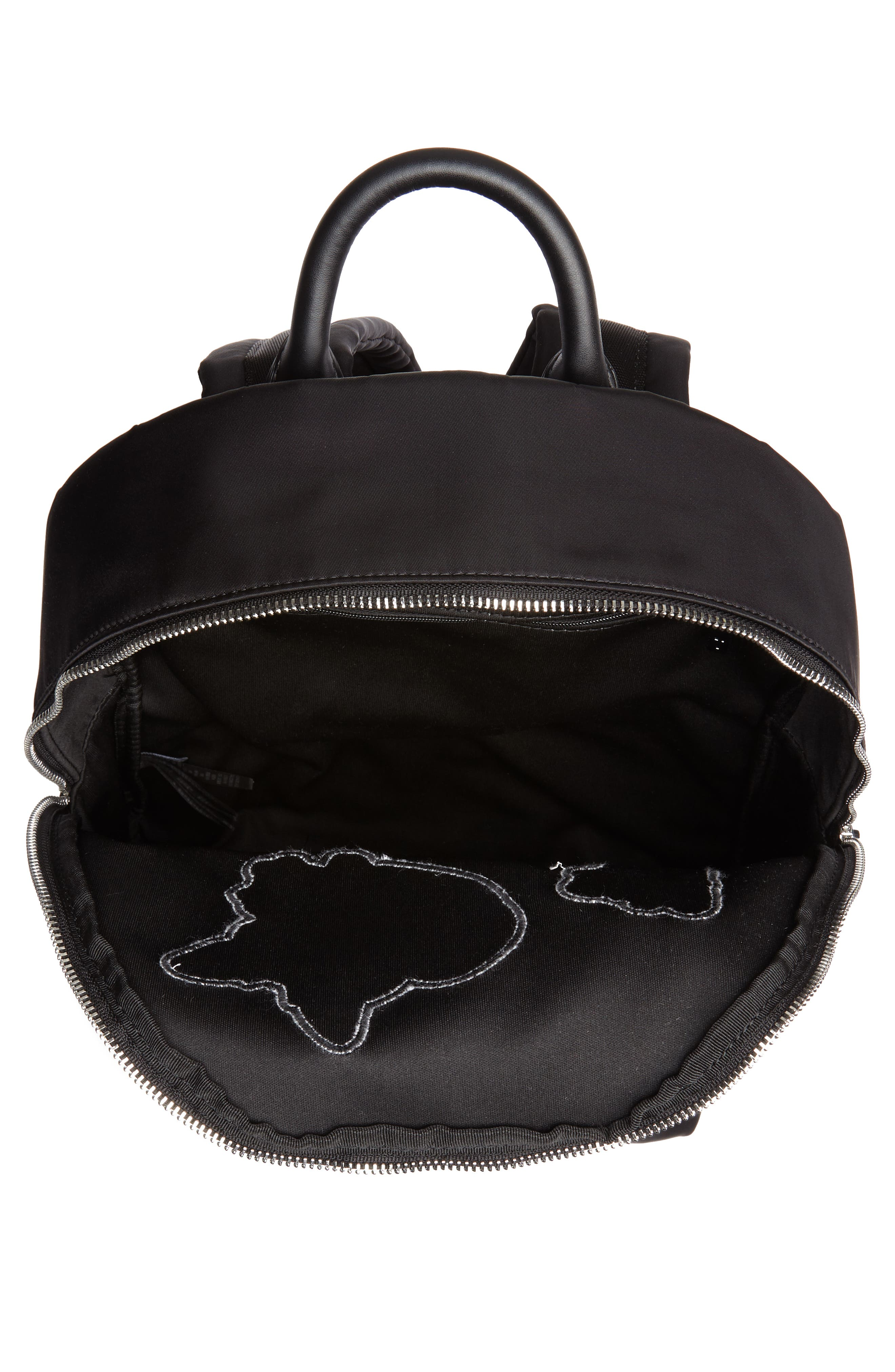 Sofiahh Nylon Backpack,                             Alternate thumbnail 4, color,                             BLACK