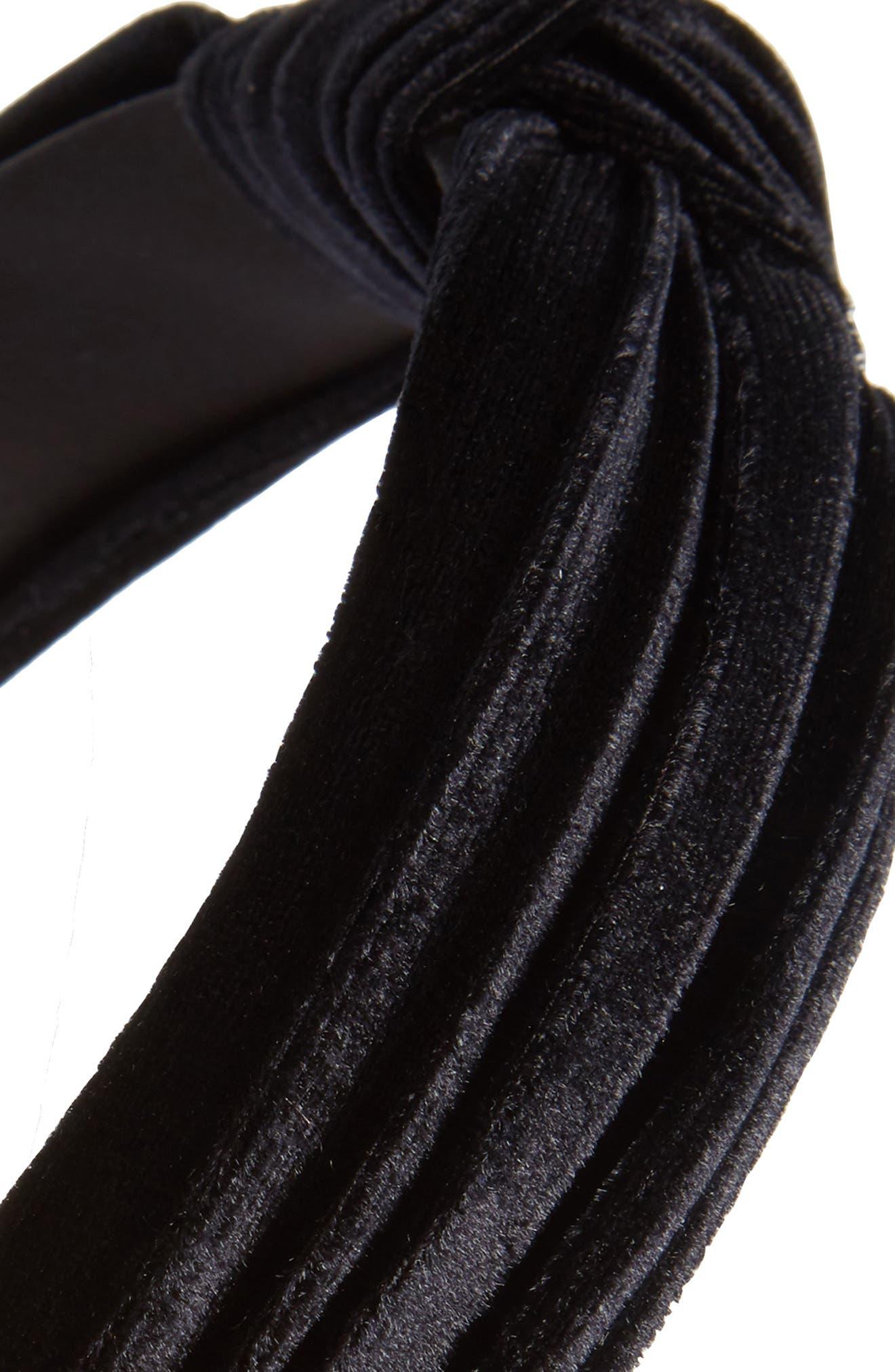 Velvet Knot Headband,                             Alternate thumbnail 4, color,