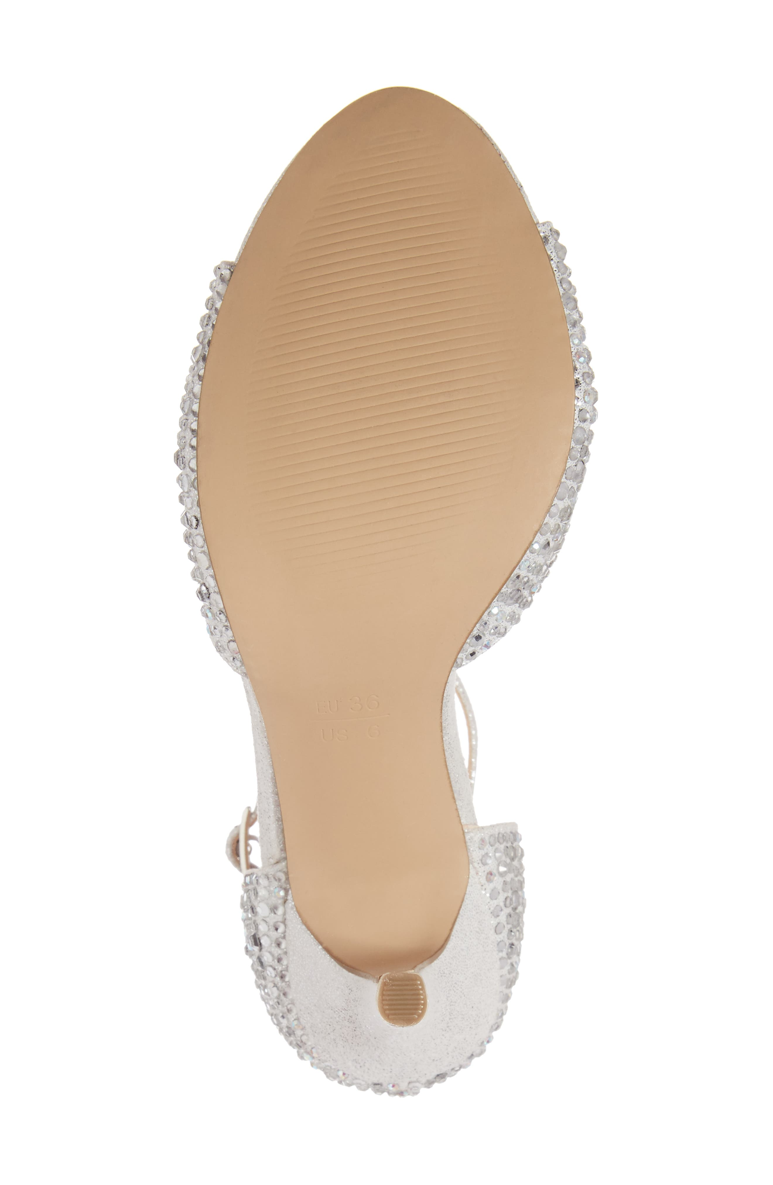 Mira Embellished Glitter Sandal,                             Alternate thumbnail 6, color,