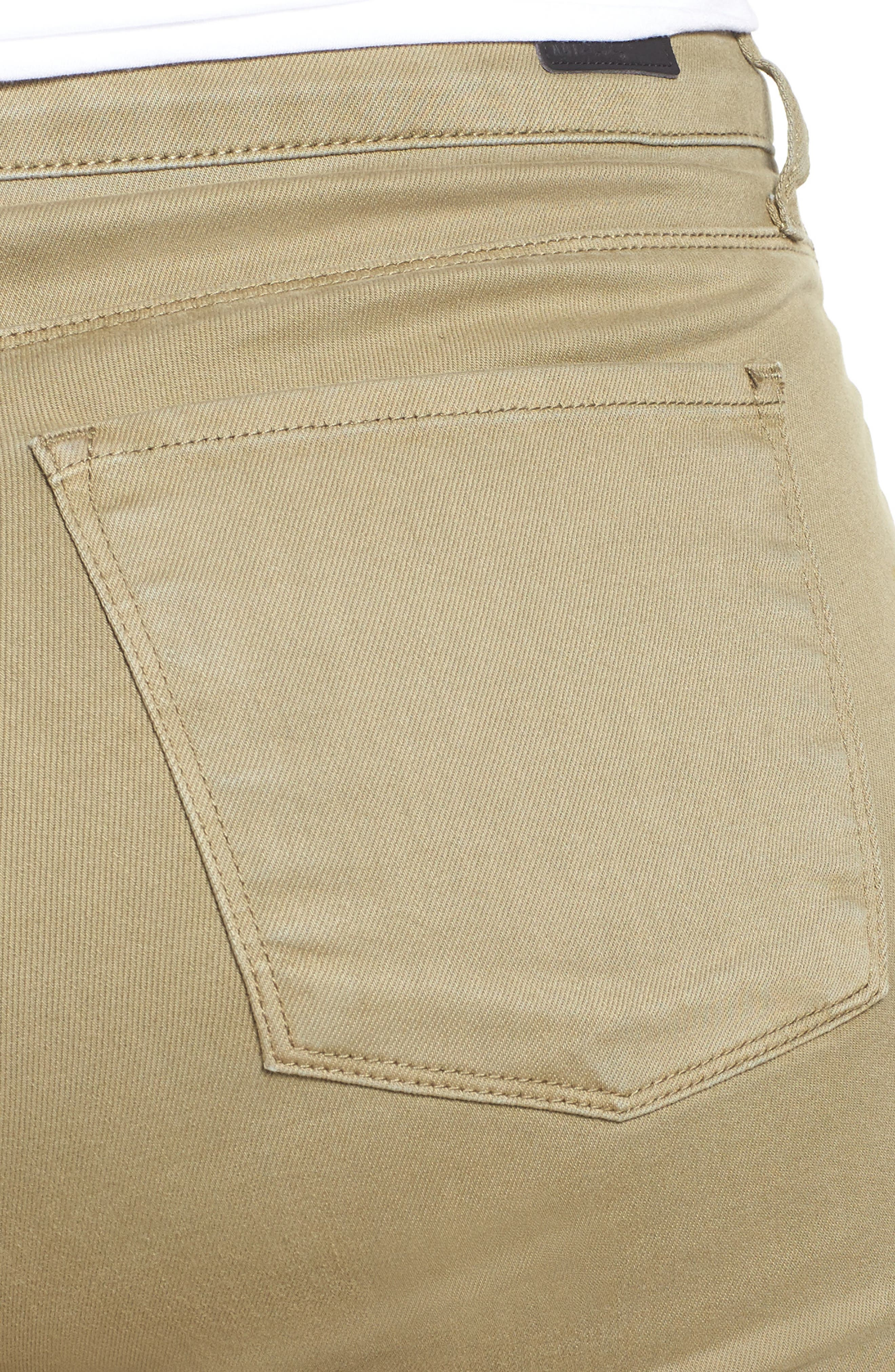 Reese Stretch Ankle Skinny Pants,                             Alternate thumbnail 4, color,                             OLIVE