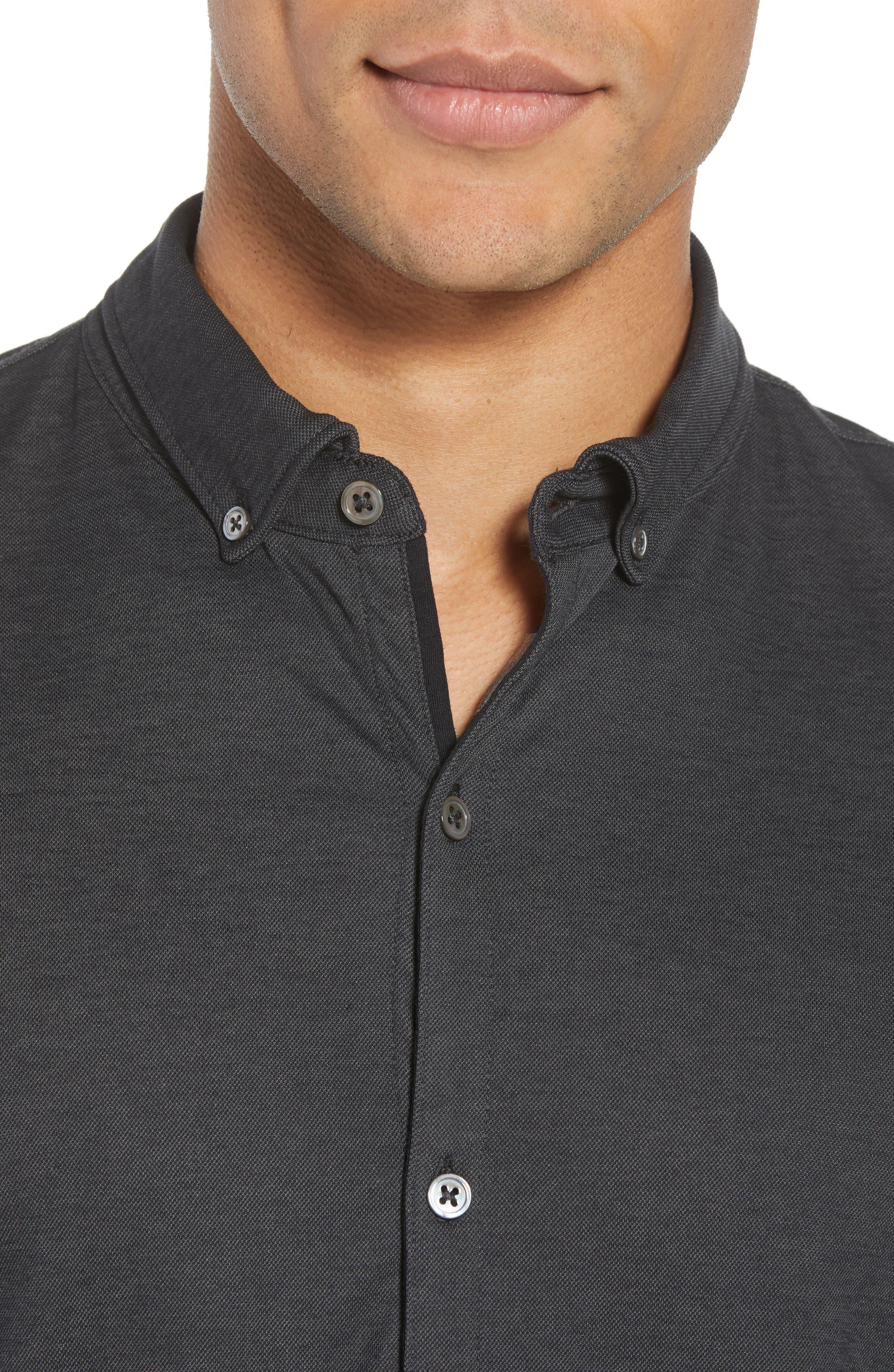 Caruth Piqué Sport Shirt,                             Alternate thumbnail 4, color,                             021