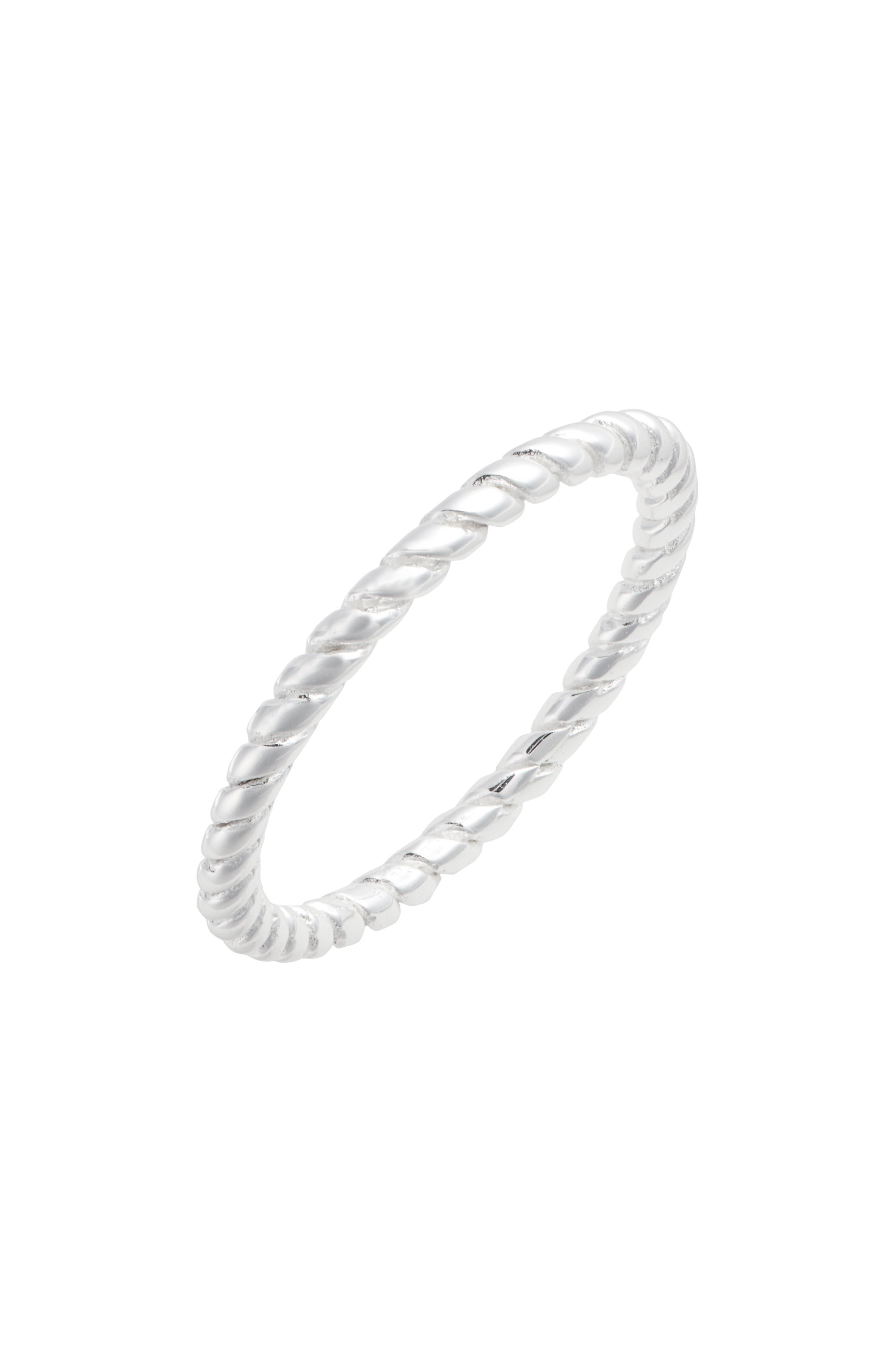 Dainty Rope Ring,                             Main thumbnail 1, color,                             SILVER