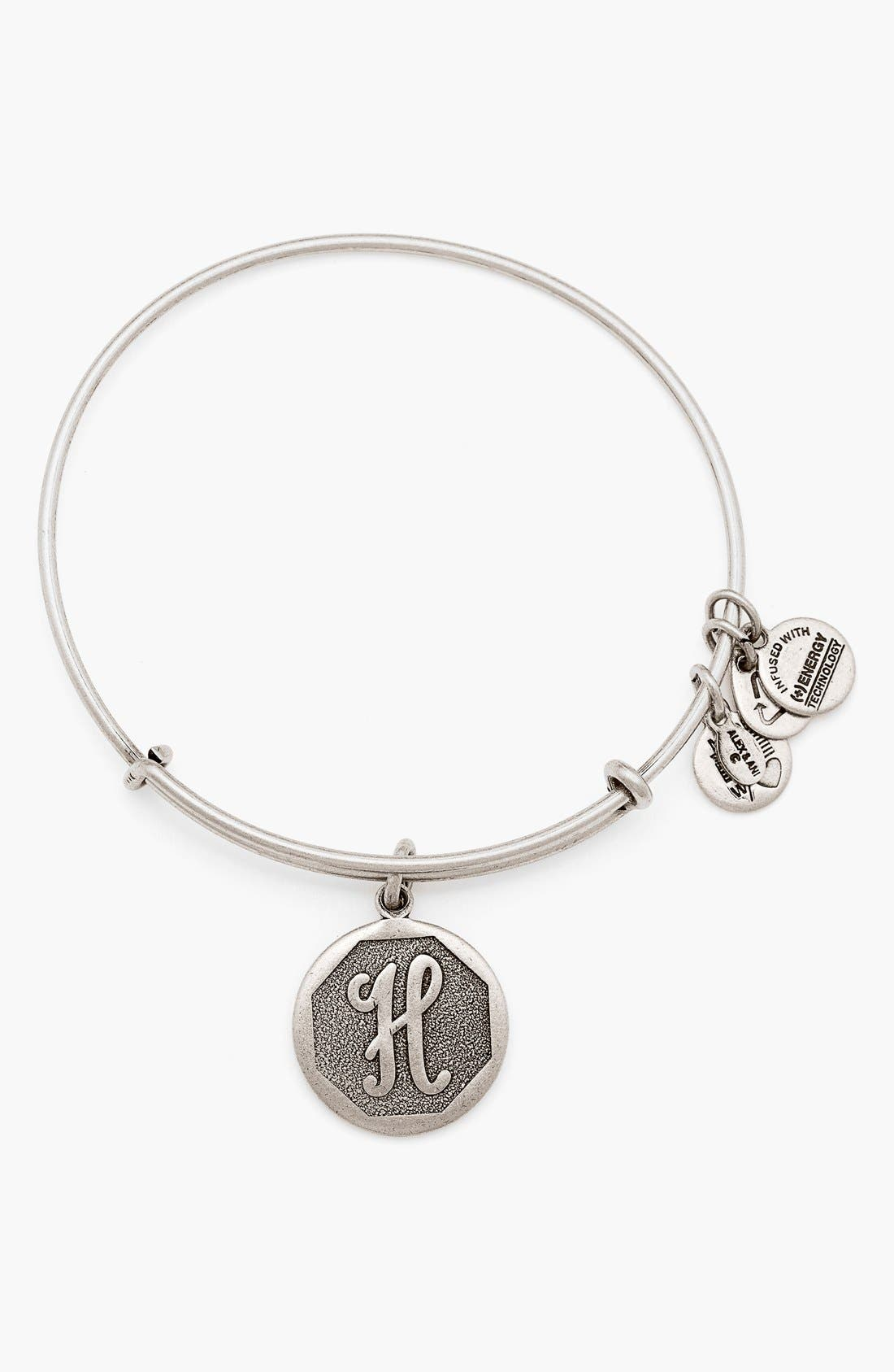 'Initial' Adjustable Wire Bangle,                             Main thumbnail 9, color,