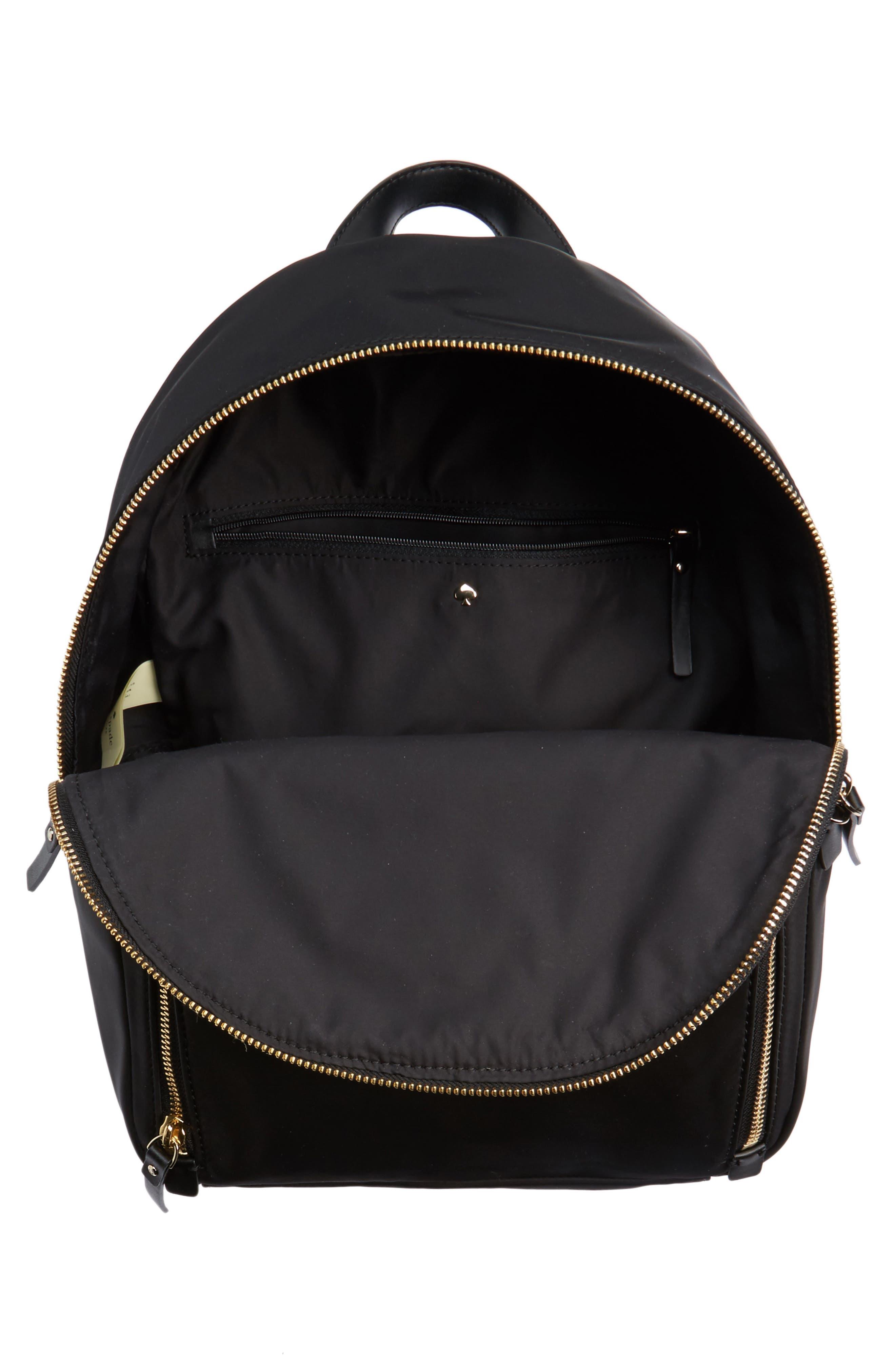 watson lane - hartley nylon backpack,                             Alternate thumbnail 4, color,                             BLACK