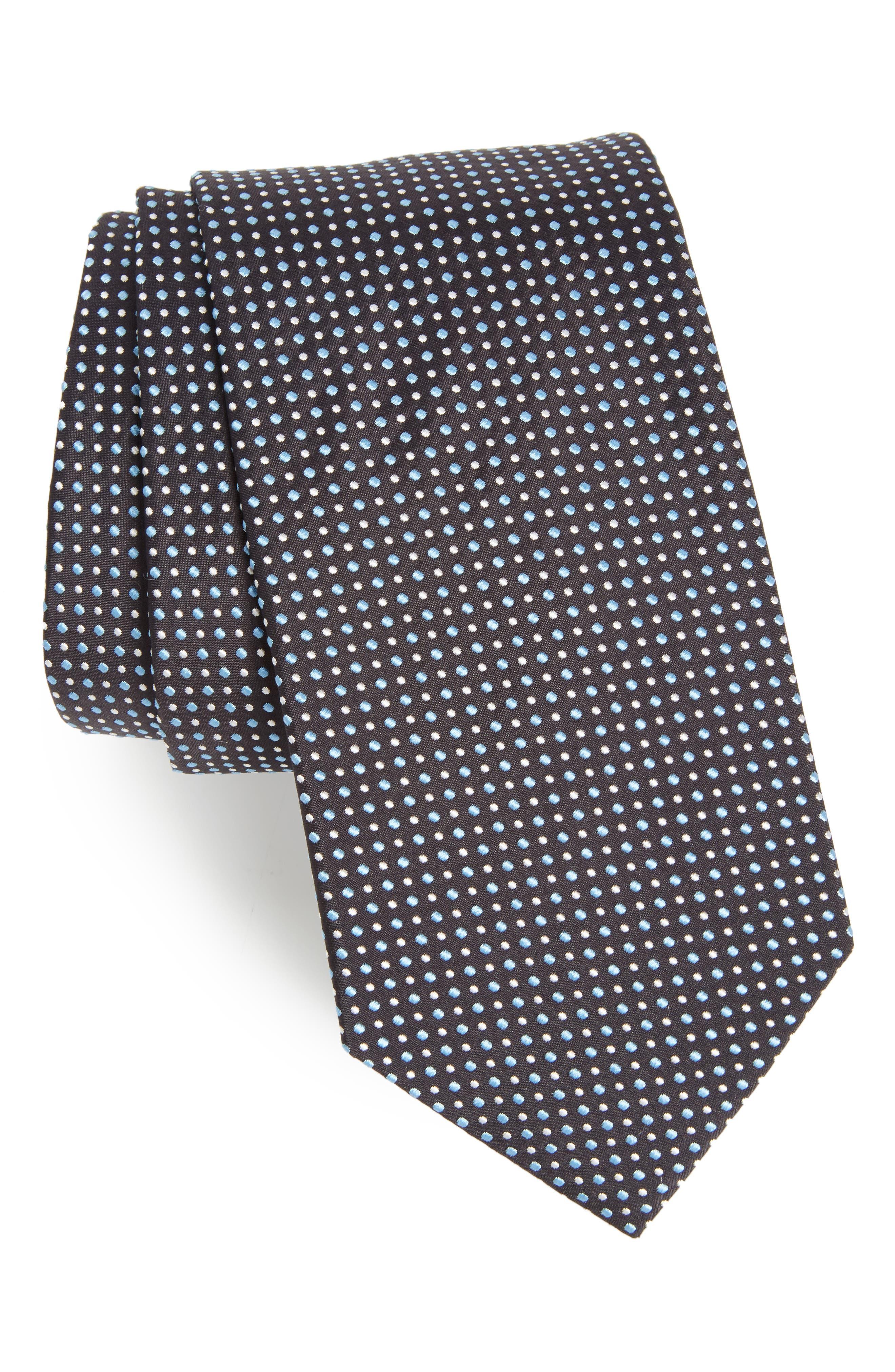 Dot Silk Tie,                             Main thumbnail 1, color,                             412