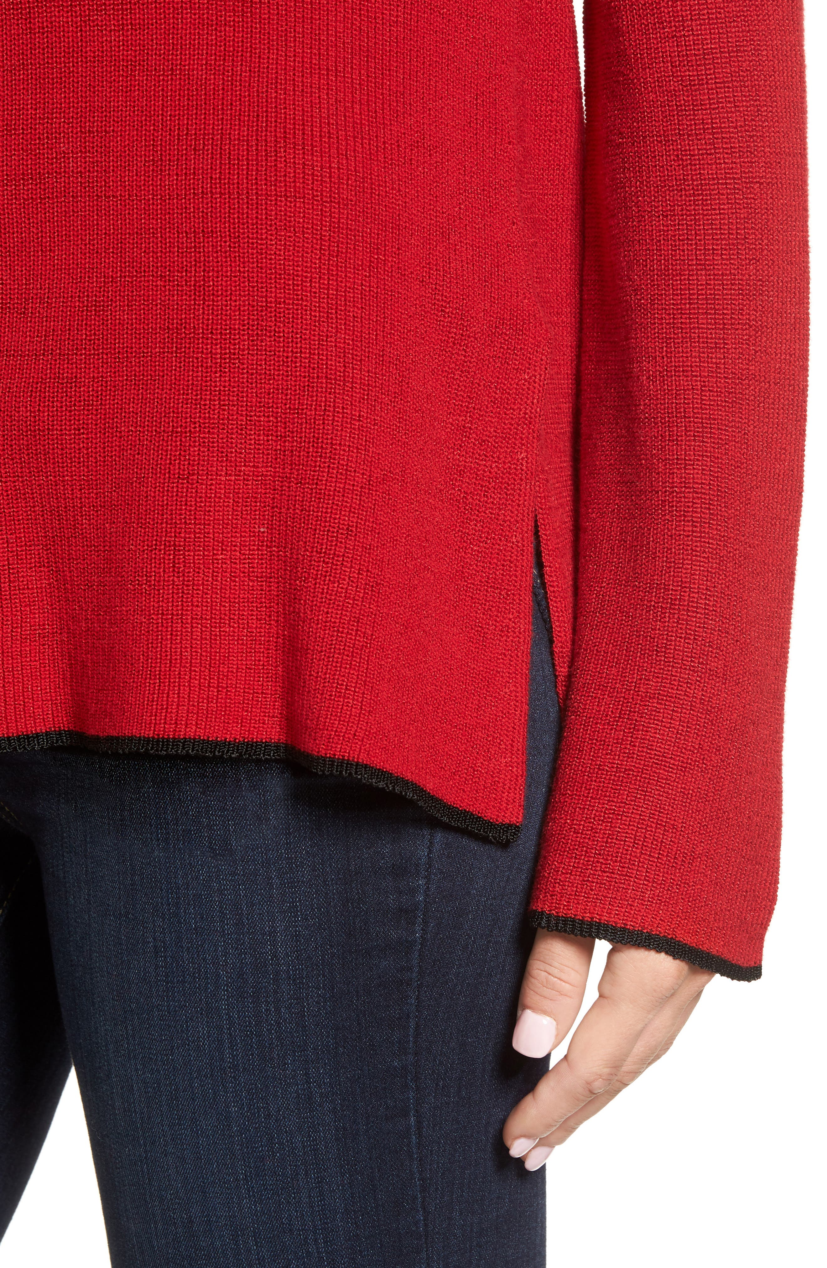 Tipped Bell Sleeve Sweater,                             Alternate thumbnail 27, color,