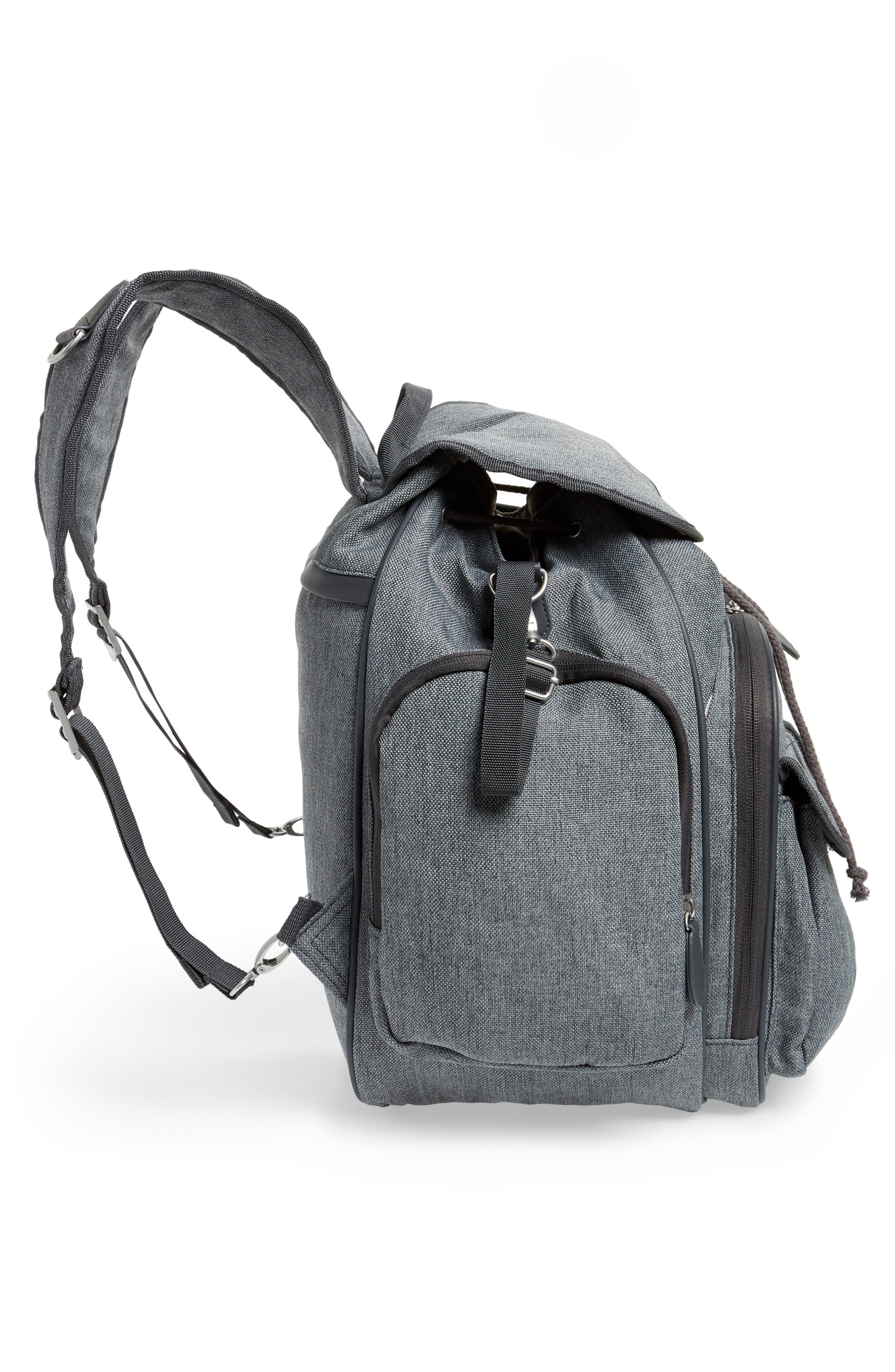 Glober Water Resistant Diaper Backpack,                             Alternate thumbnail 6, color,                             SMOKEY