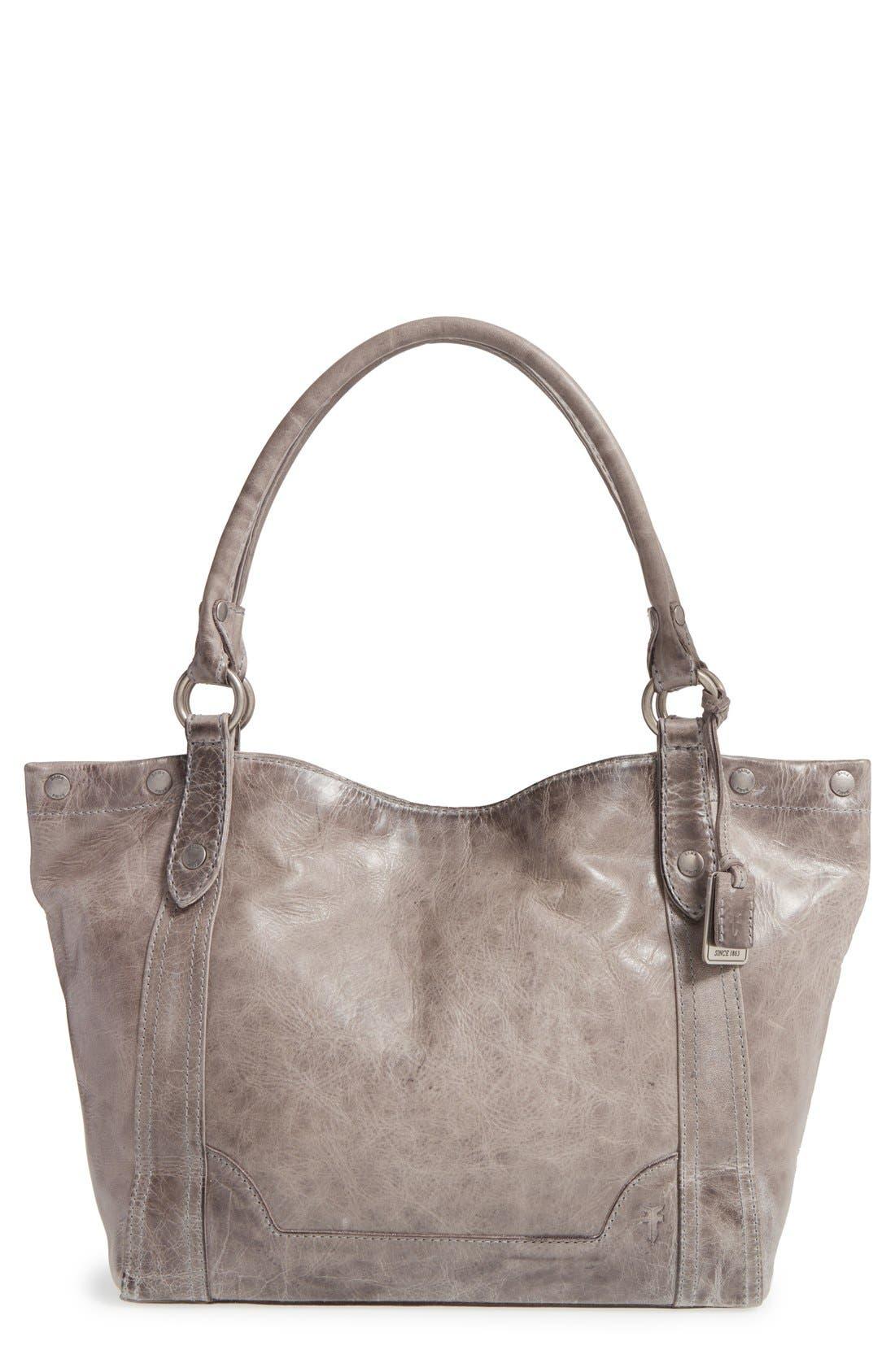 Melissa Leather Shoulder Bag,                         Main,                         color, ICE