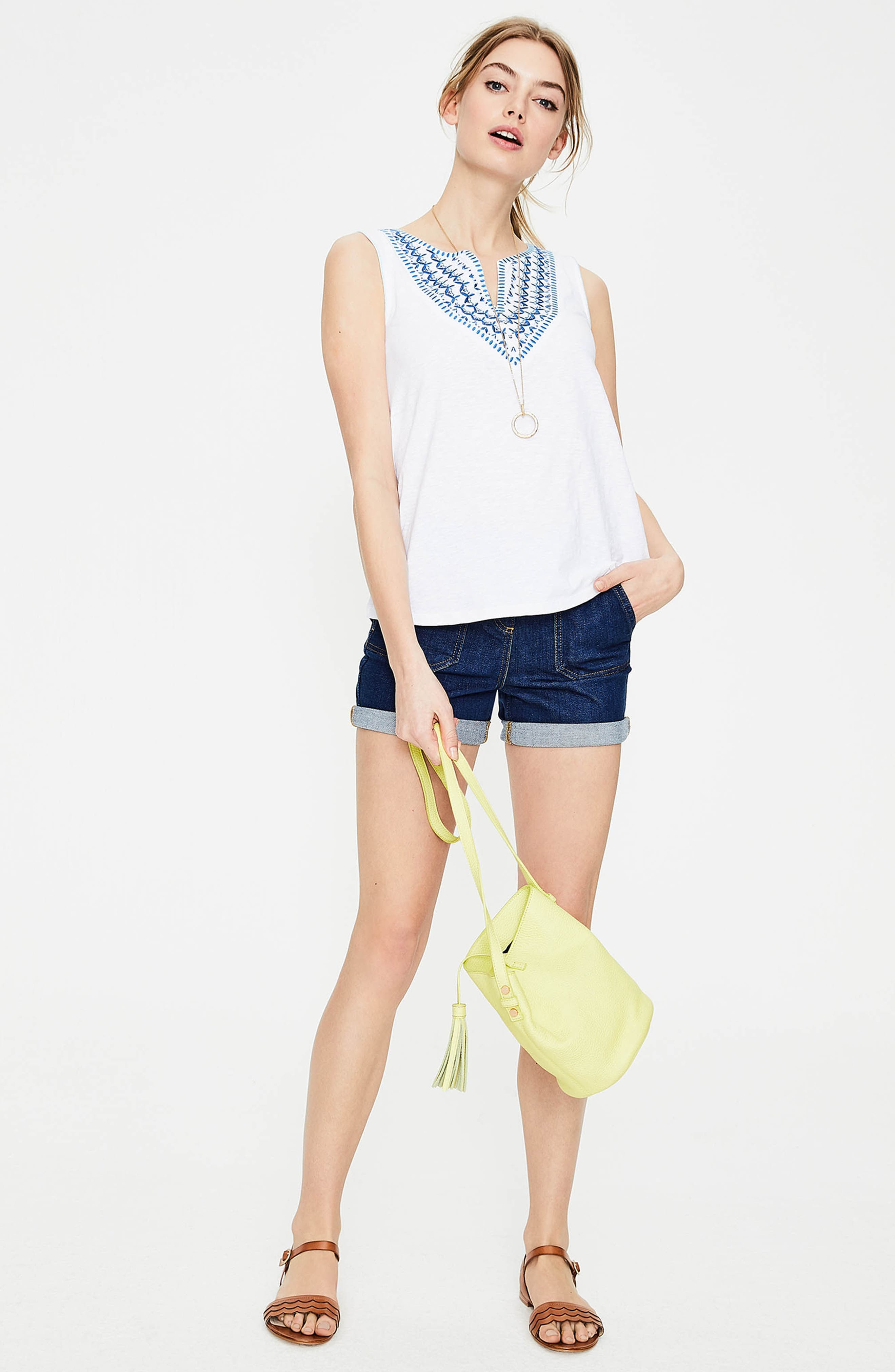 BODEN,                             Embroidered Tank,                             Alternate thumbnail 5, color,                             100