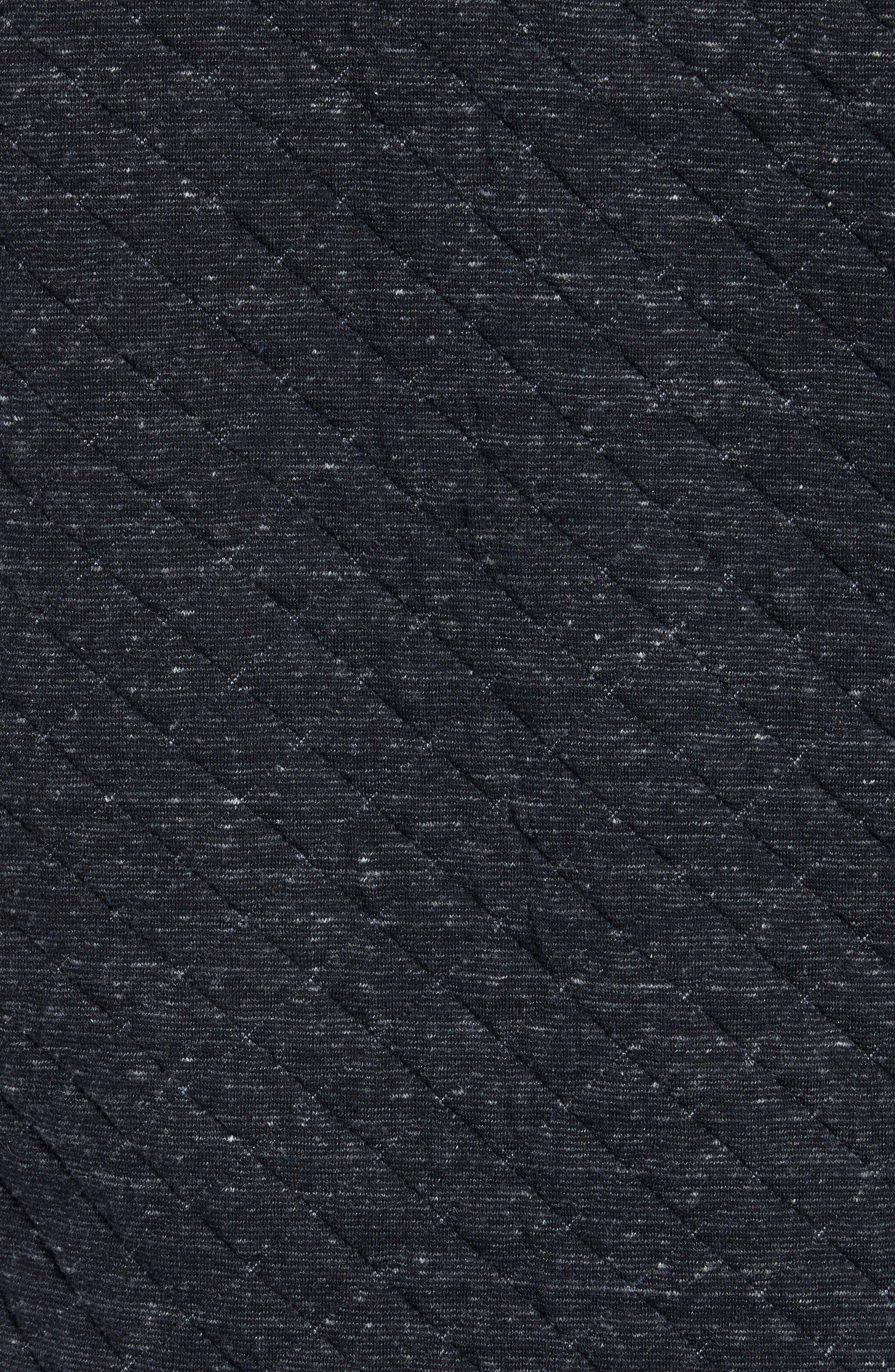 FAHERTY,                             Belmar Regular Fit Quilted Shirt Jacket,                             Alternate thumbnail 6, color,                             BLACK HEATHER