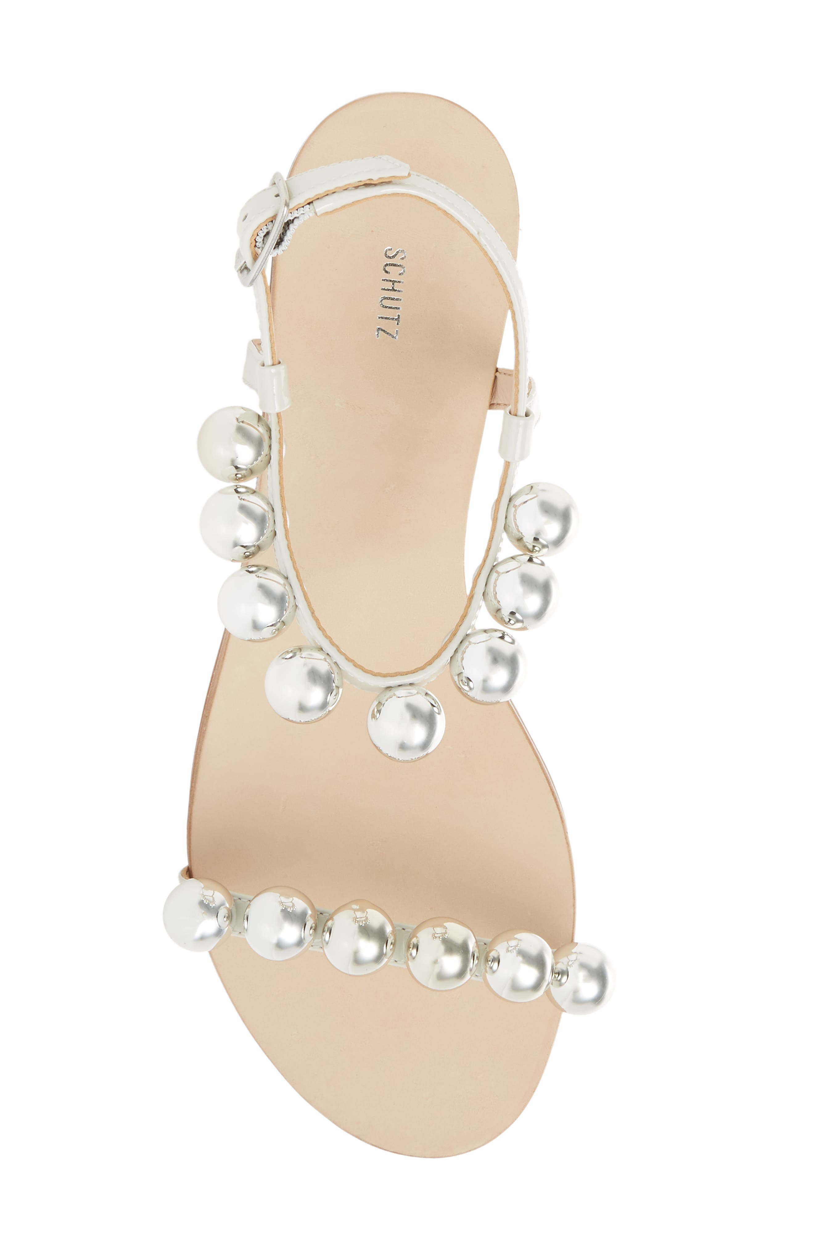 Hebe Ankle Strap Sandal,                             Alternate thumbnail 5, color,                             PEARL LEATHER
