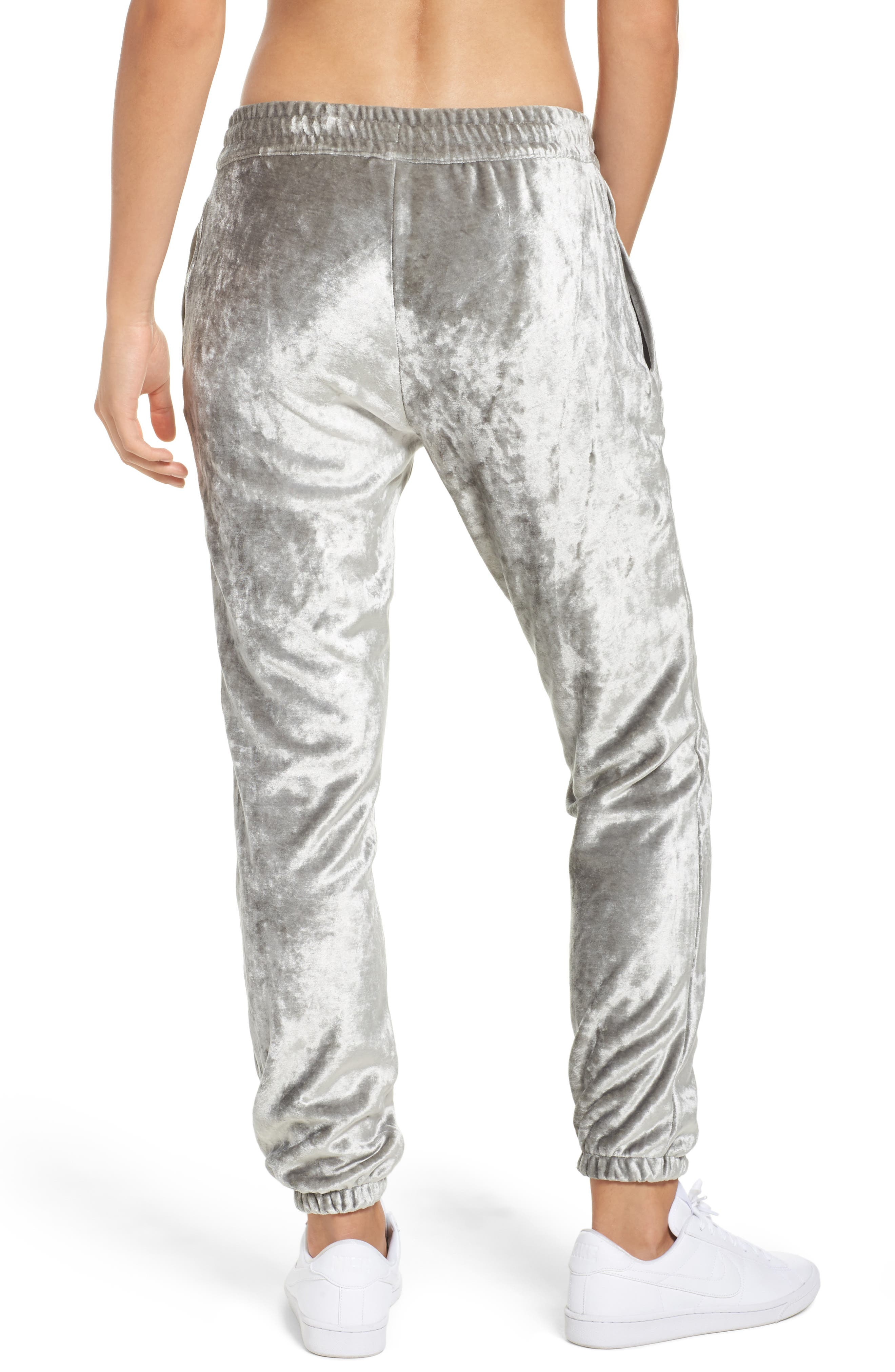 NIKE,                             NikeLab Essentials Women's Velour Pants,                             Alternate thumbnail 2, color,                             020