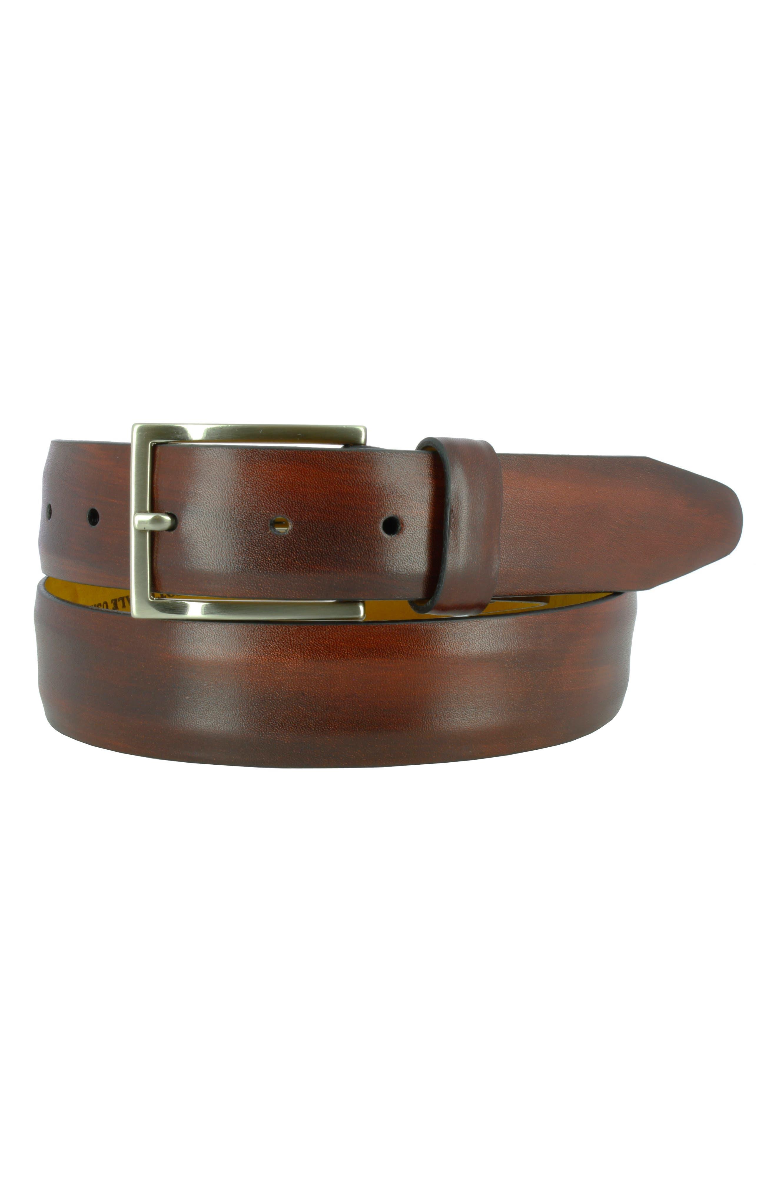 Remo Tulliani Jackson Leather Belt, Burgundy