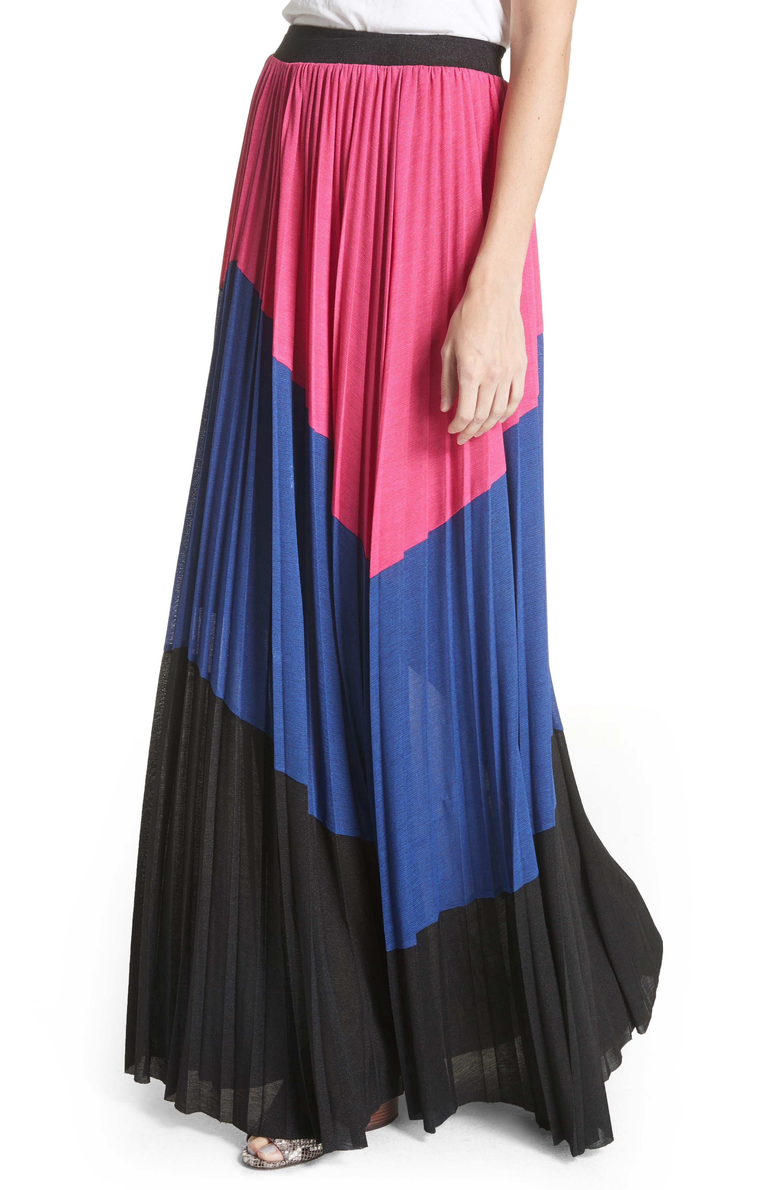 Colorblock Maxi Skirt,                             Alternate thumbnail 4, color,