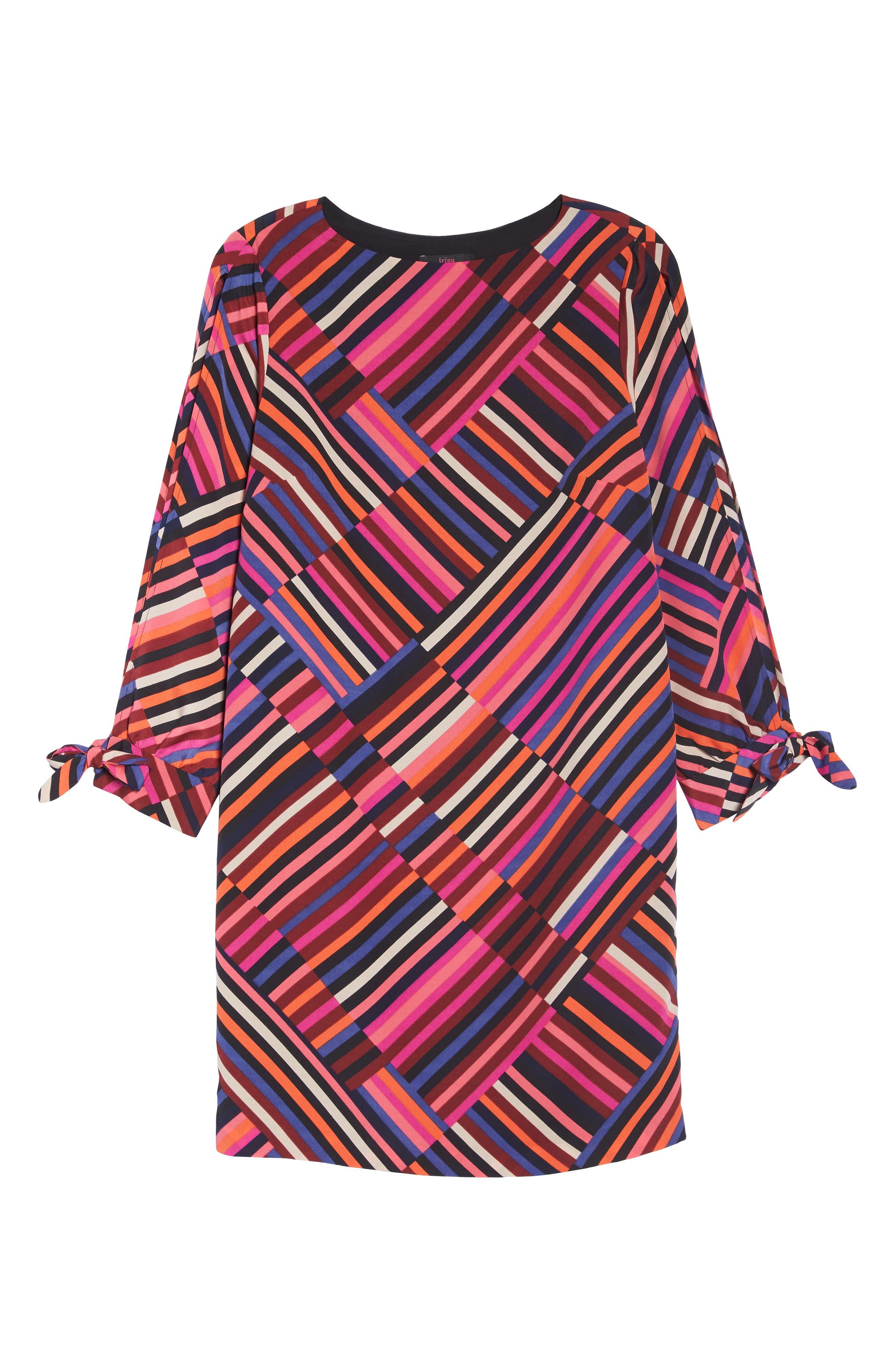 Jaxon Chiffon Dress,                             Alternate thumbnail 6, color,                             MULTI