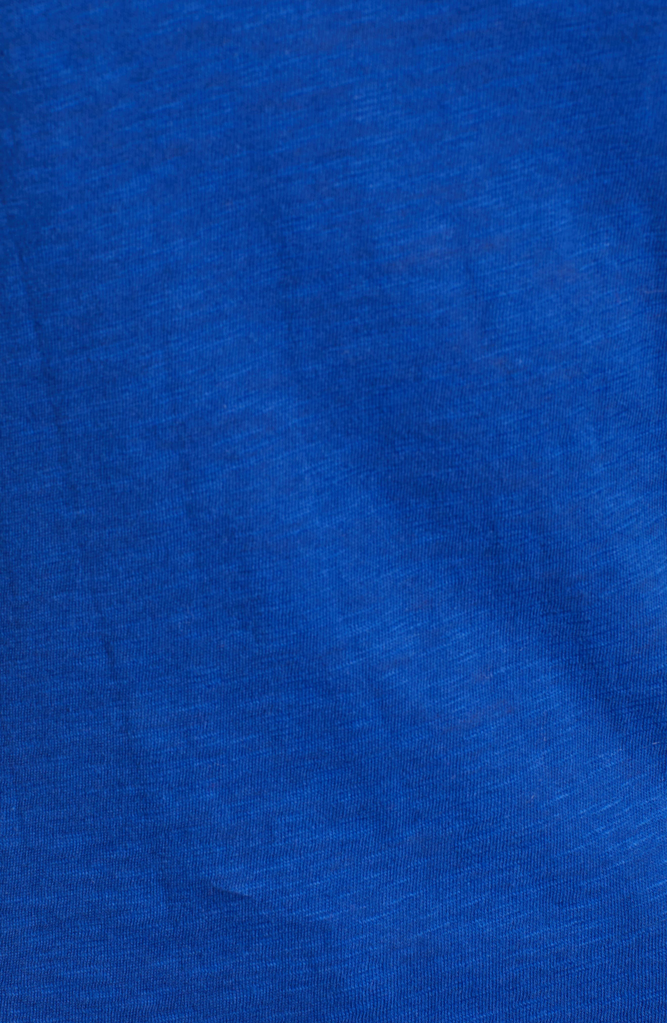 Slub Crewneck Tee,                             Alternate thumbnail 5, color,                             BLUE MAZARINE
