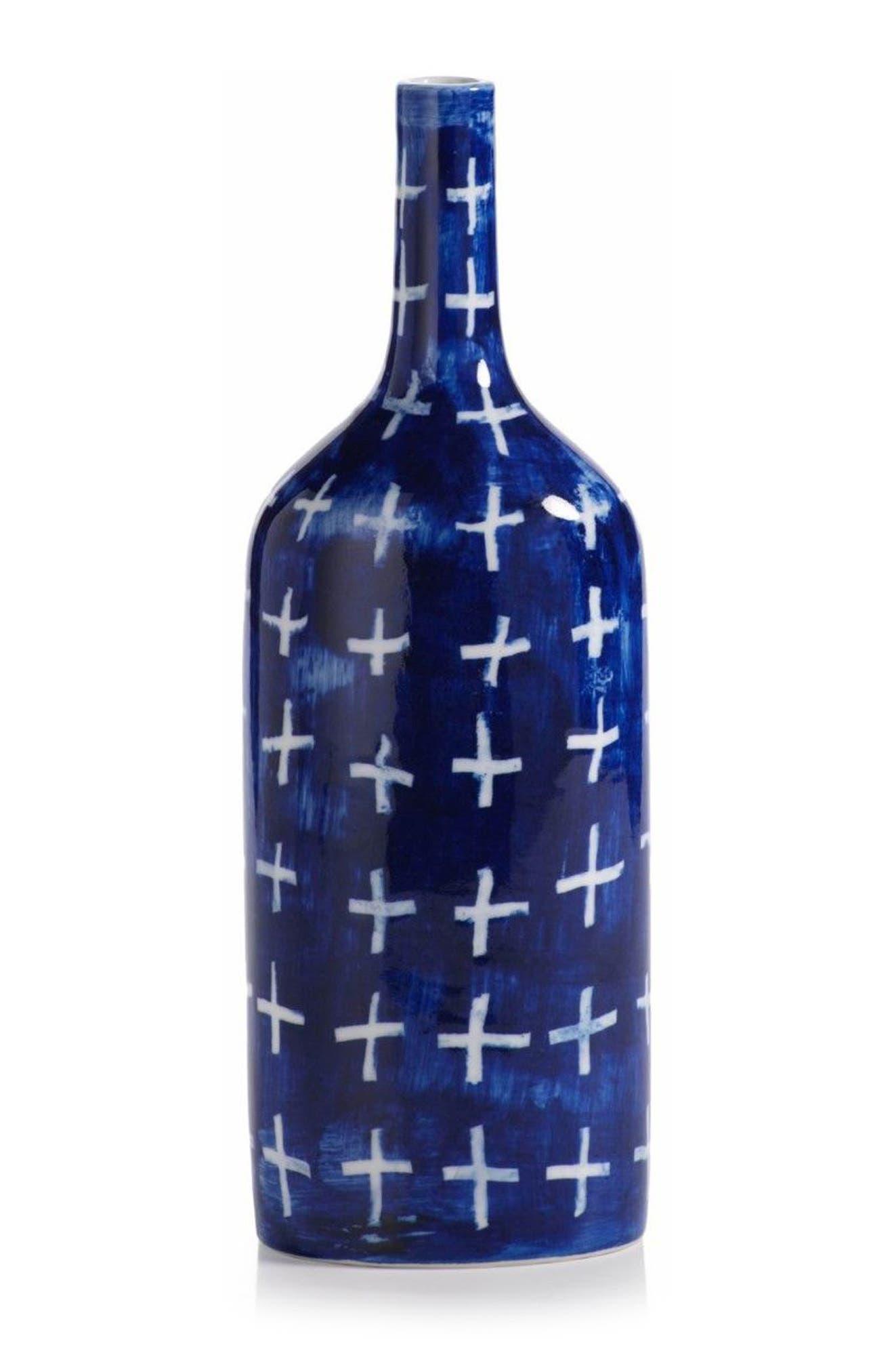 Yahto Decorative Ceramic Bottle,                             Main thumbnail 1, color,