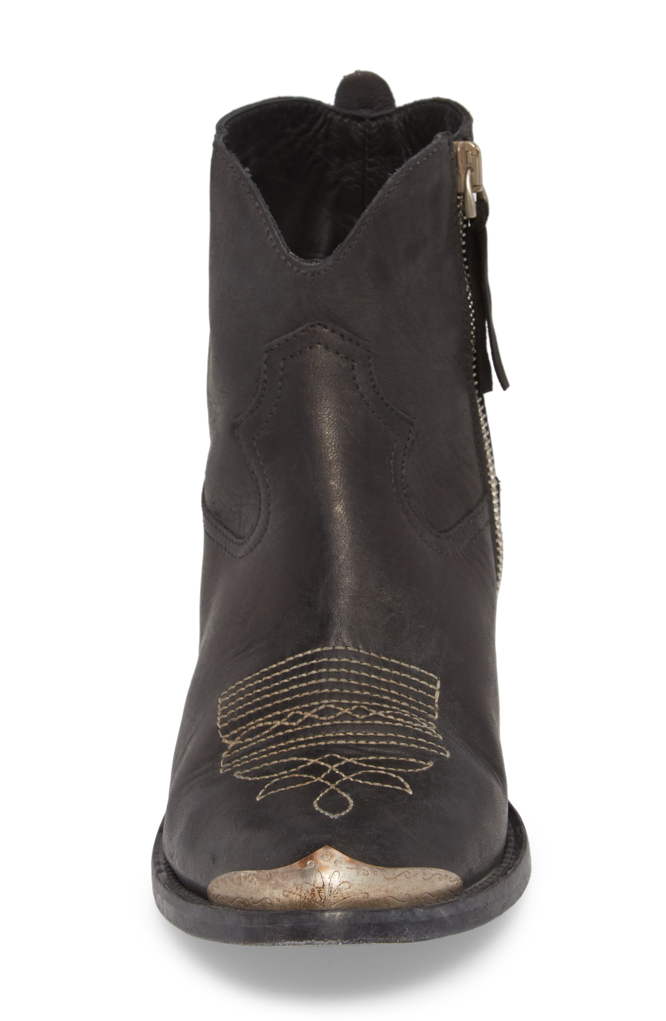 GOLDEN GOOSE,                             Young Western Bootie,                             Alternate thumbnail 4, color,                             BLACK